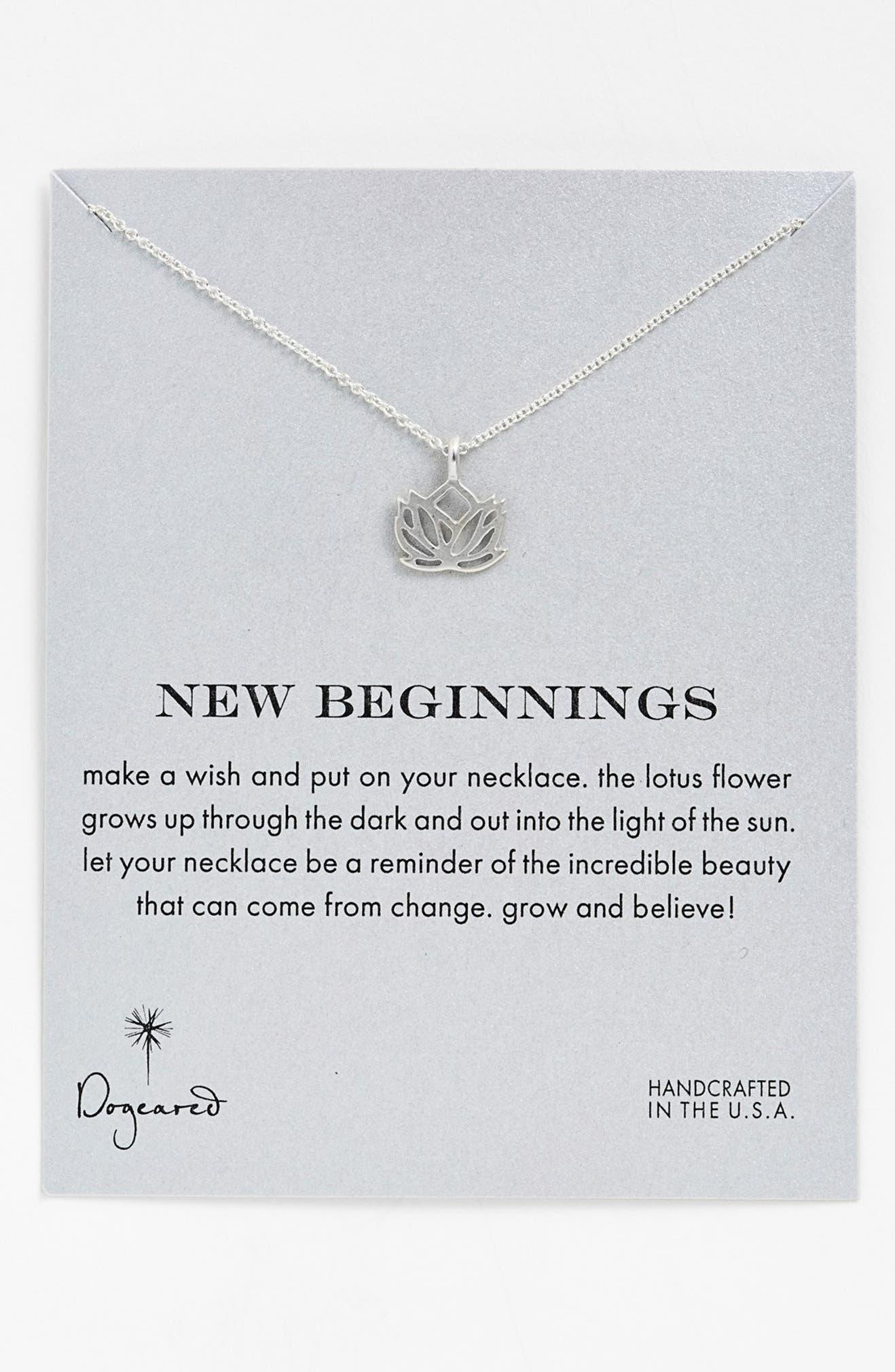 Dogeared new beginnings lotus pendant necklace nordstrom mightylinksfo