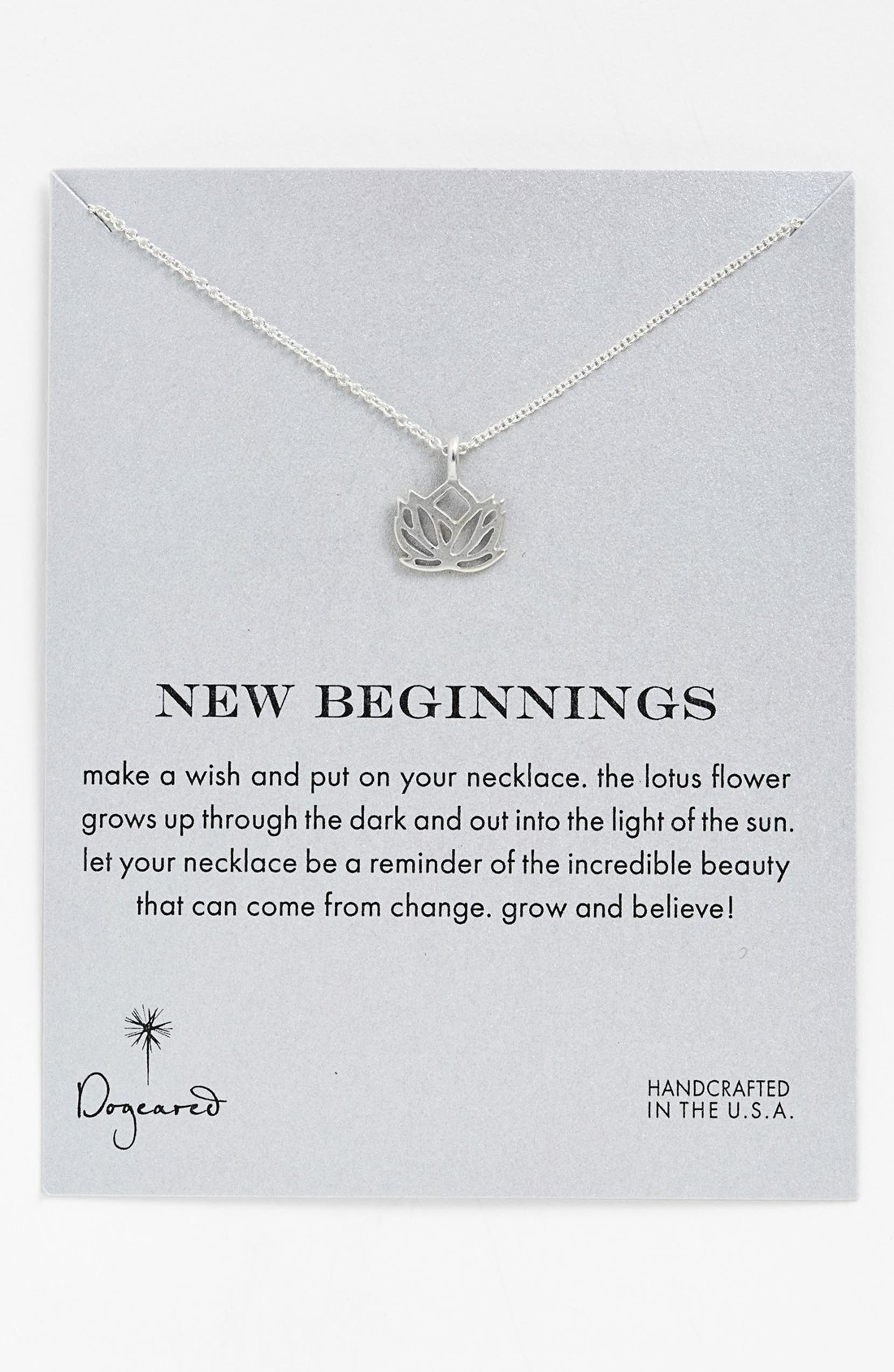 Dogeared New Beginnings Lotus Pendant Necklace Nordstrom