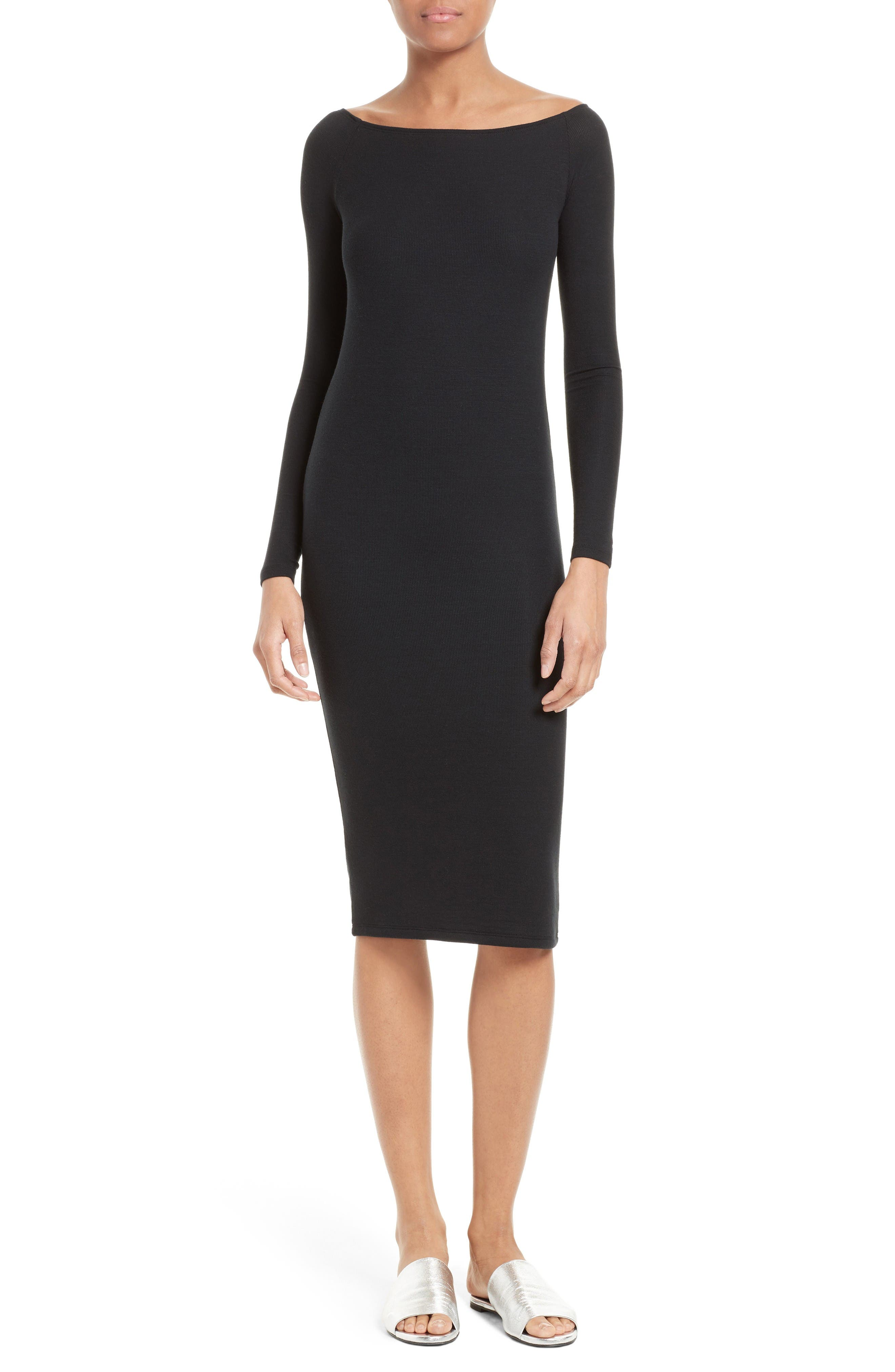 ATM Anthony Thomas Melillo Off the Shoulder Rib Dress