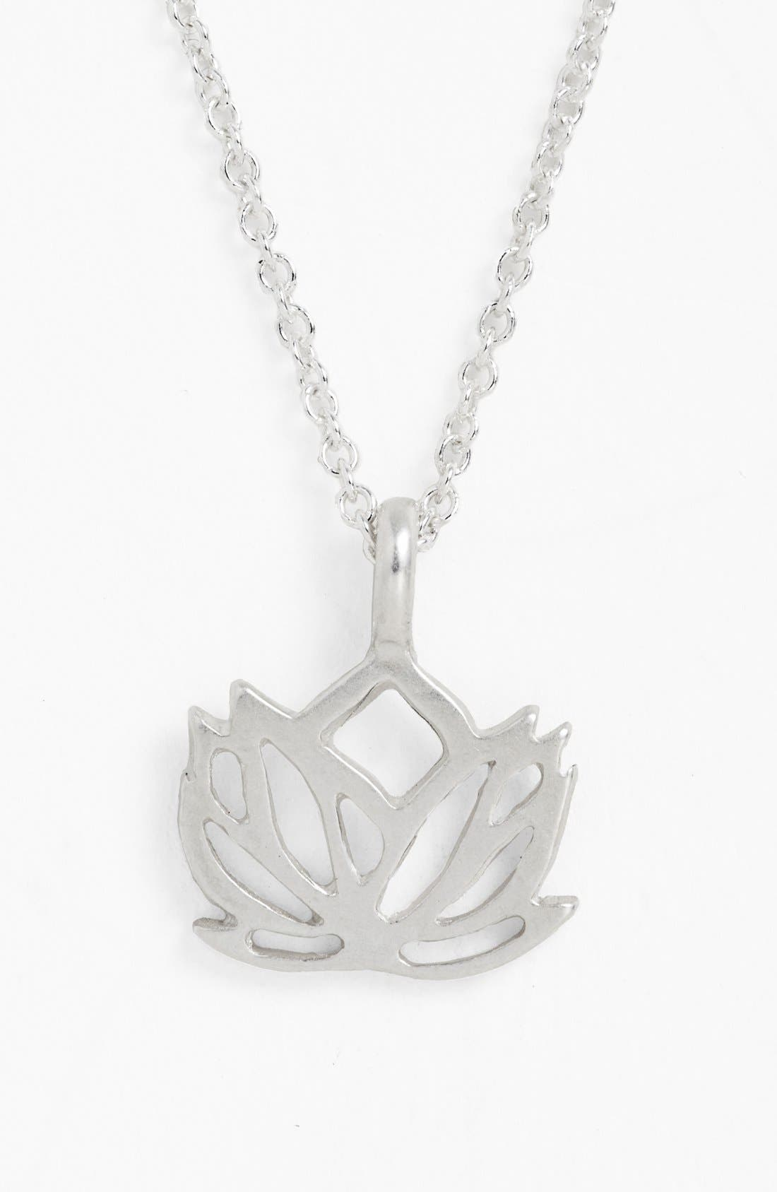 Alternate Image 4  - Dogeared 'New Beginnings' Lotus Pendant Necklace