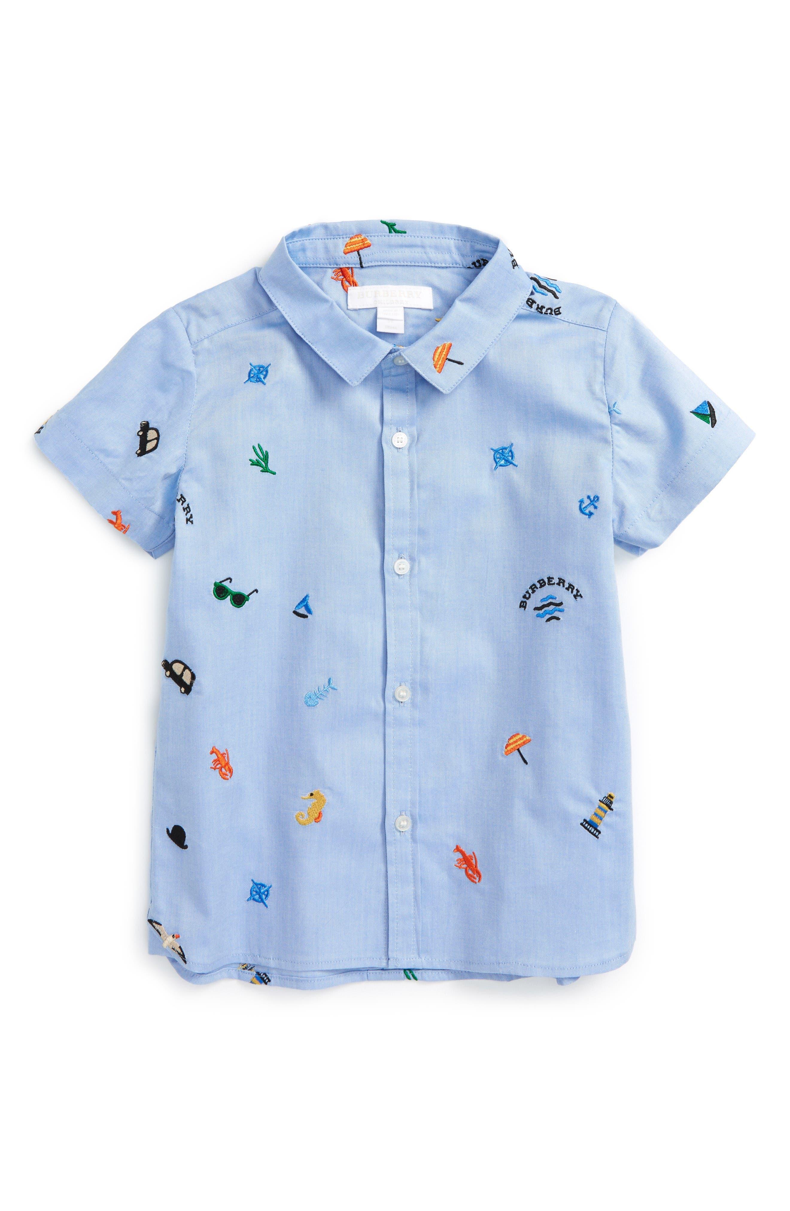 Burberry Clarkey Embroidered Woven Shirt (Baby Boys & Toddler Boys)