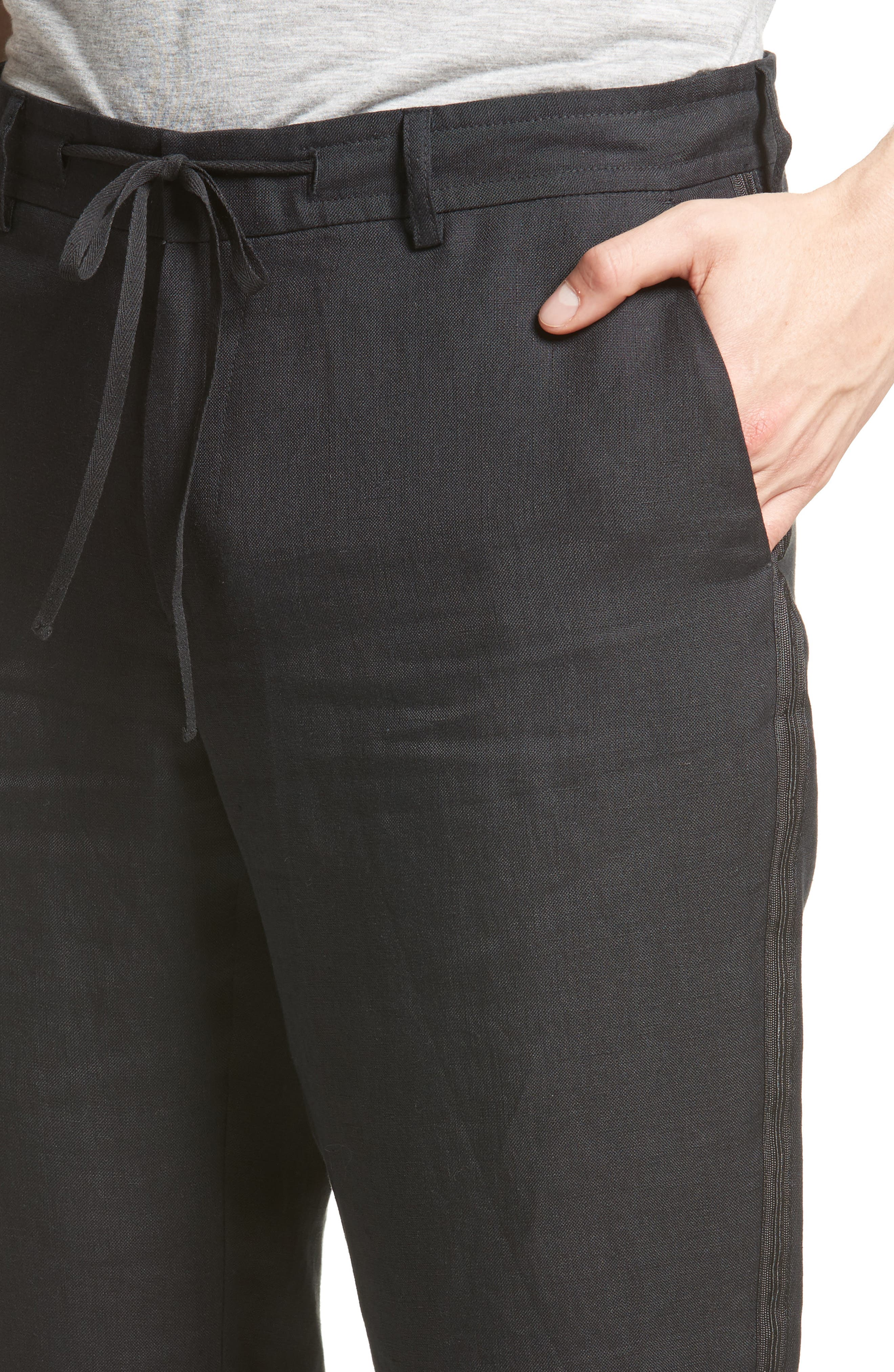 Alternate Image 4  - The Kooples Relaxed Fit Linen Pants