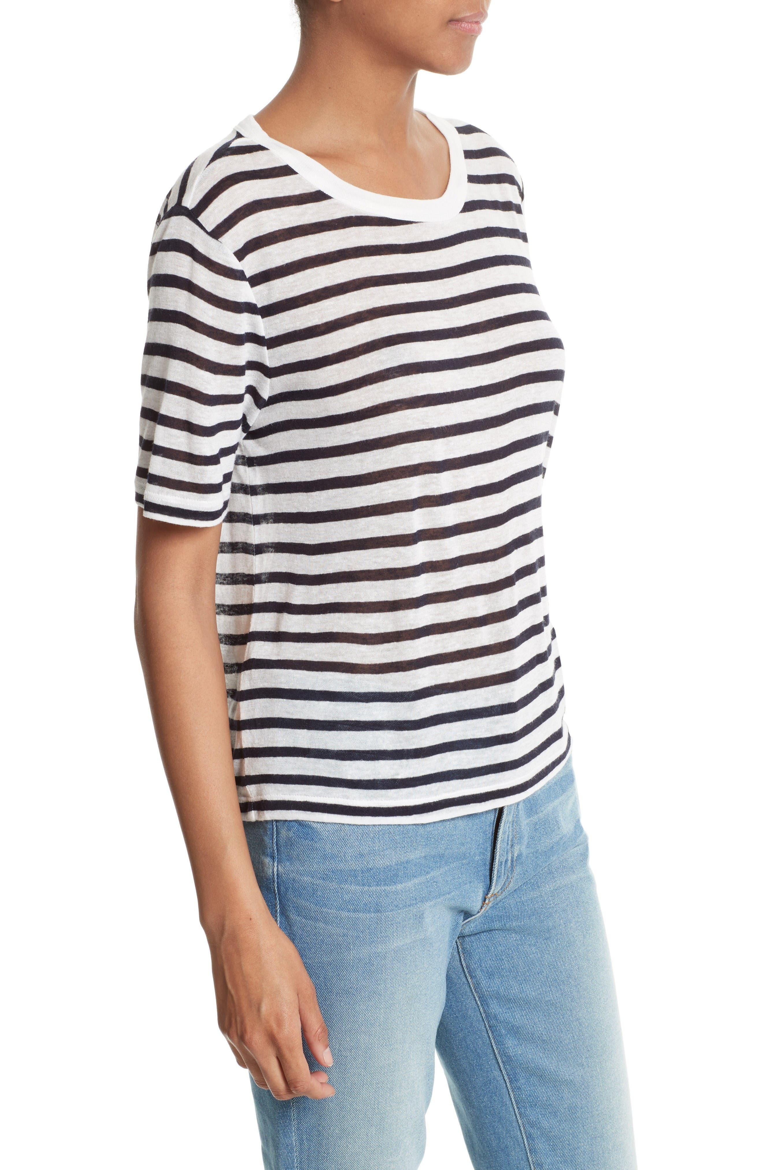 Stripe Tee,                             Alternate thumbnail 3, color,                             Ink And Ivory