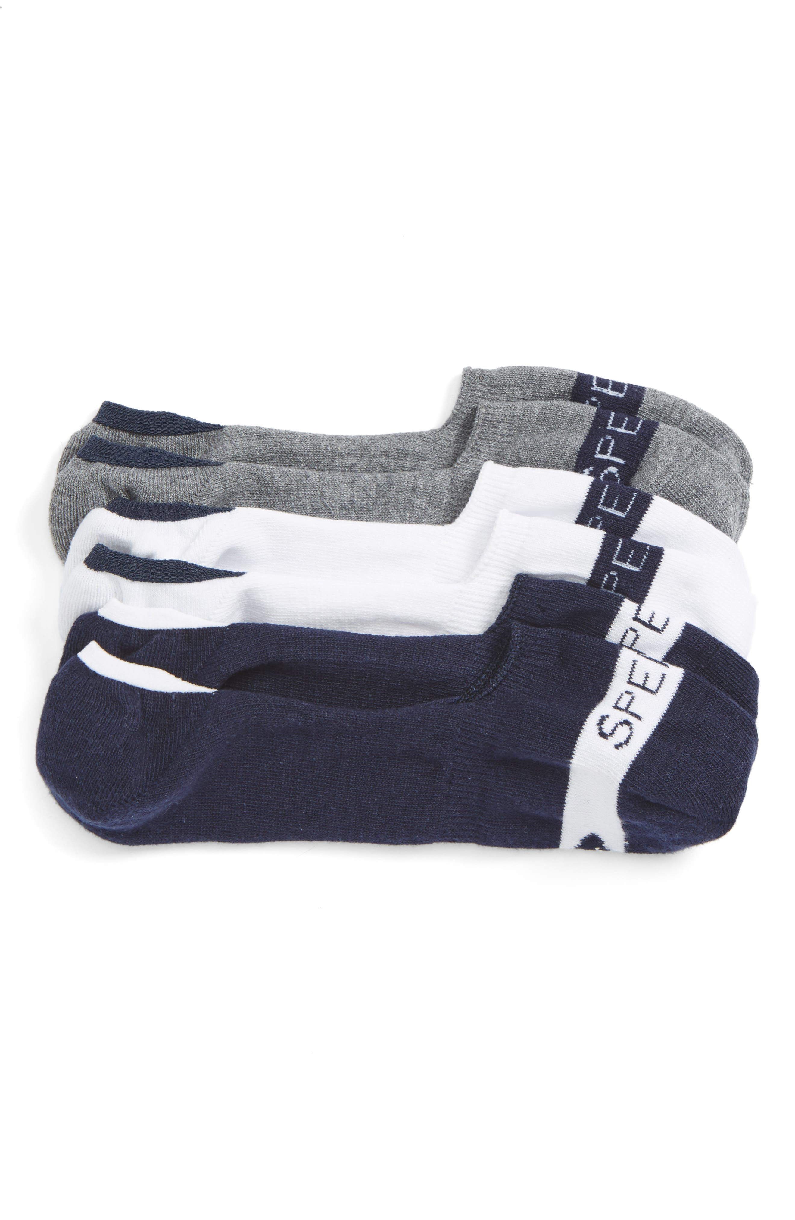Signature Assorted 3-Pack No-Show Socks,                         Main,                         color, Navy/ White/ Charcoal