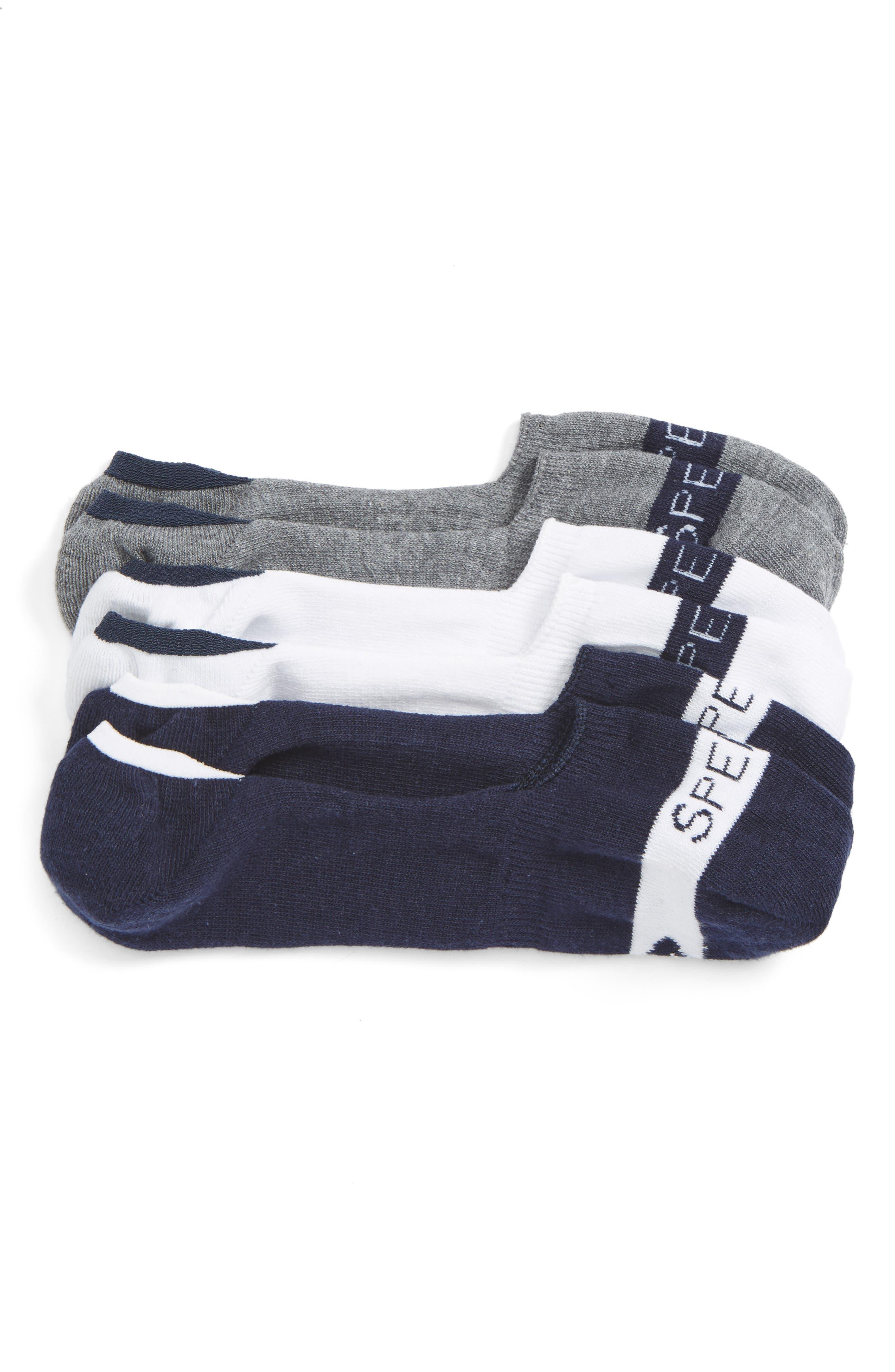 Sperry Signature Assorted 3-Pack No-Show Socks