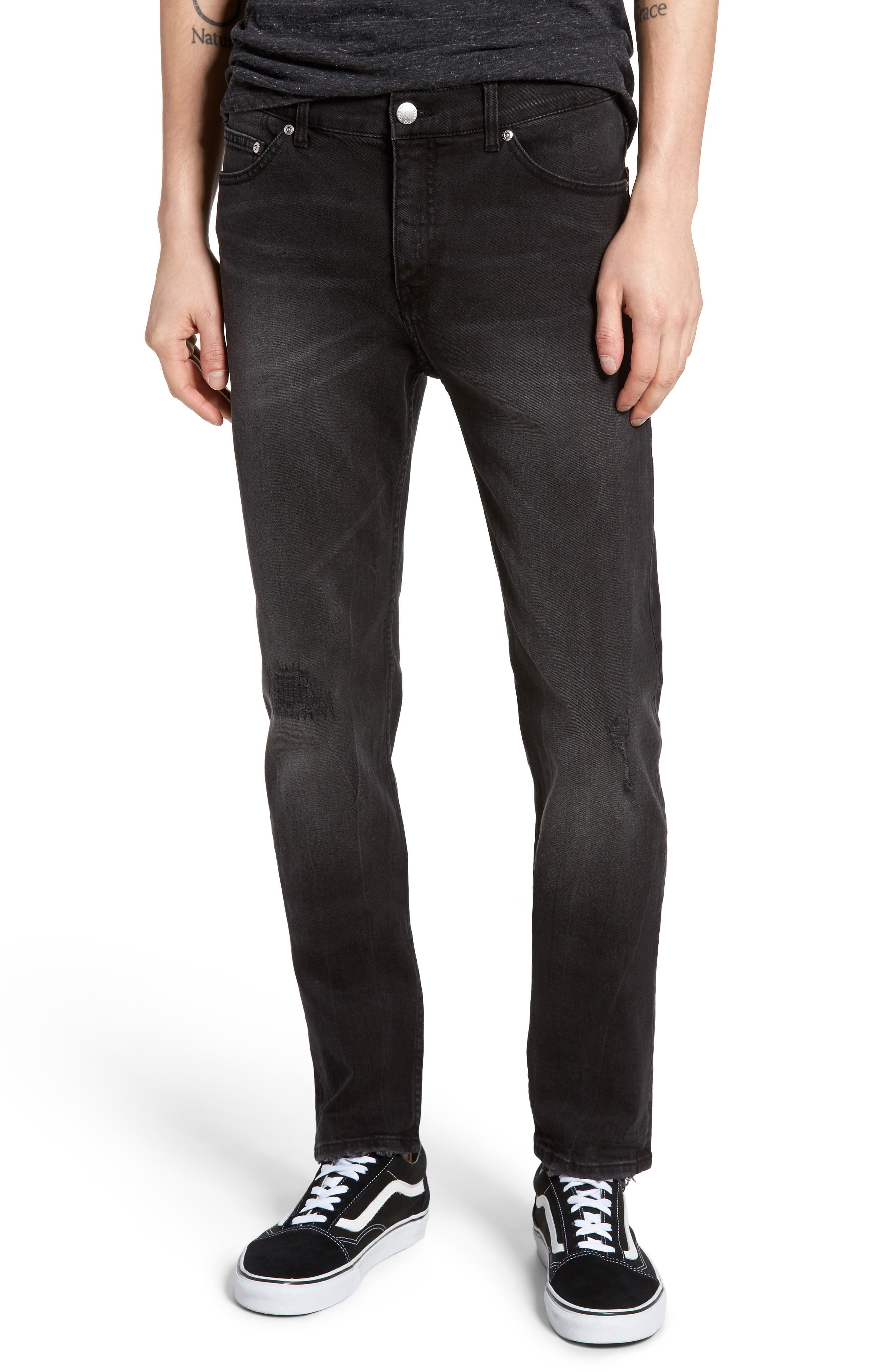 Cheap Monday Sonic Skinny Fit Jeans (Brute Black)