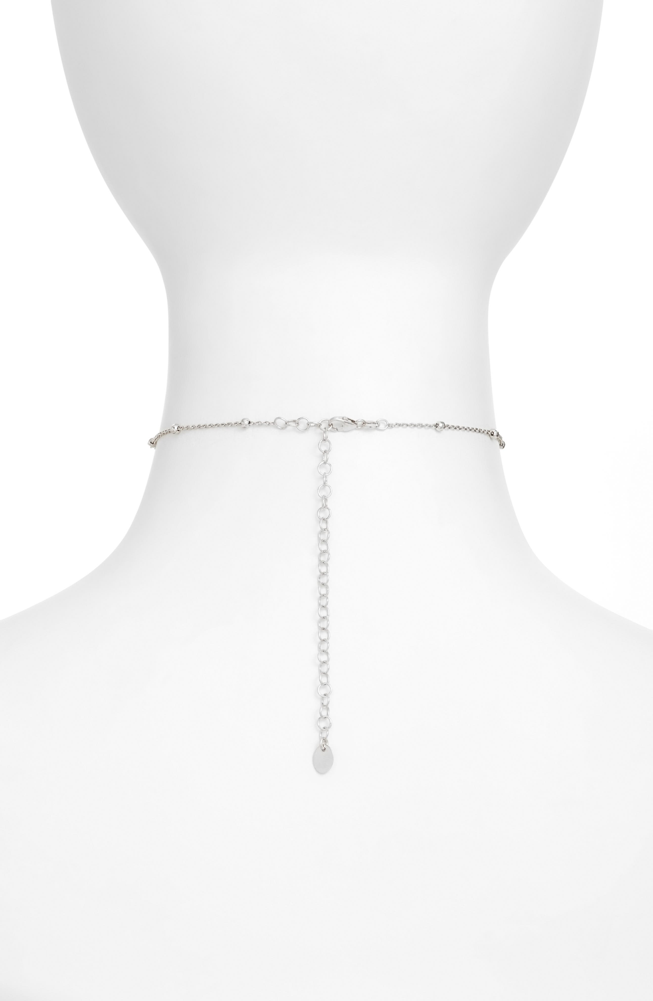 Choker Necklace,                             Alternate thumbnail 2, color,                             Silver