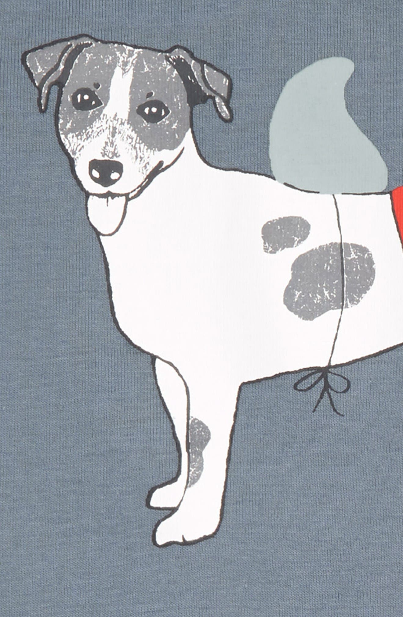 Fitted Two-Piece Pajamas,                             Alternate thumbnail 2, color,                             Red Grenadine Fancy Dog