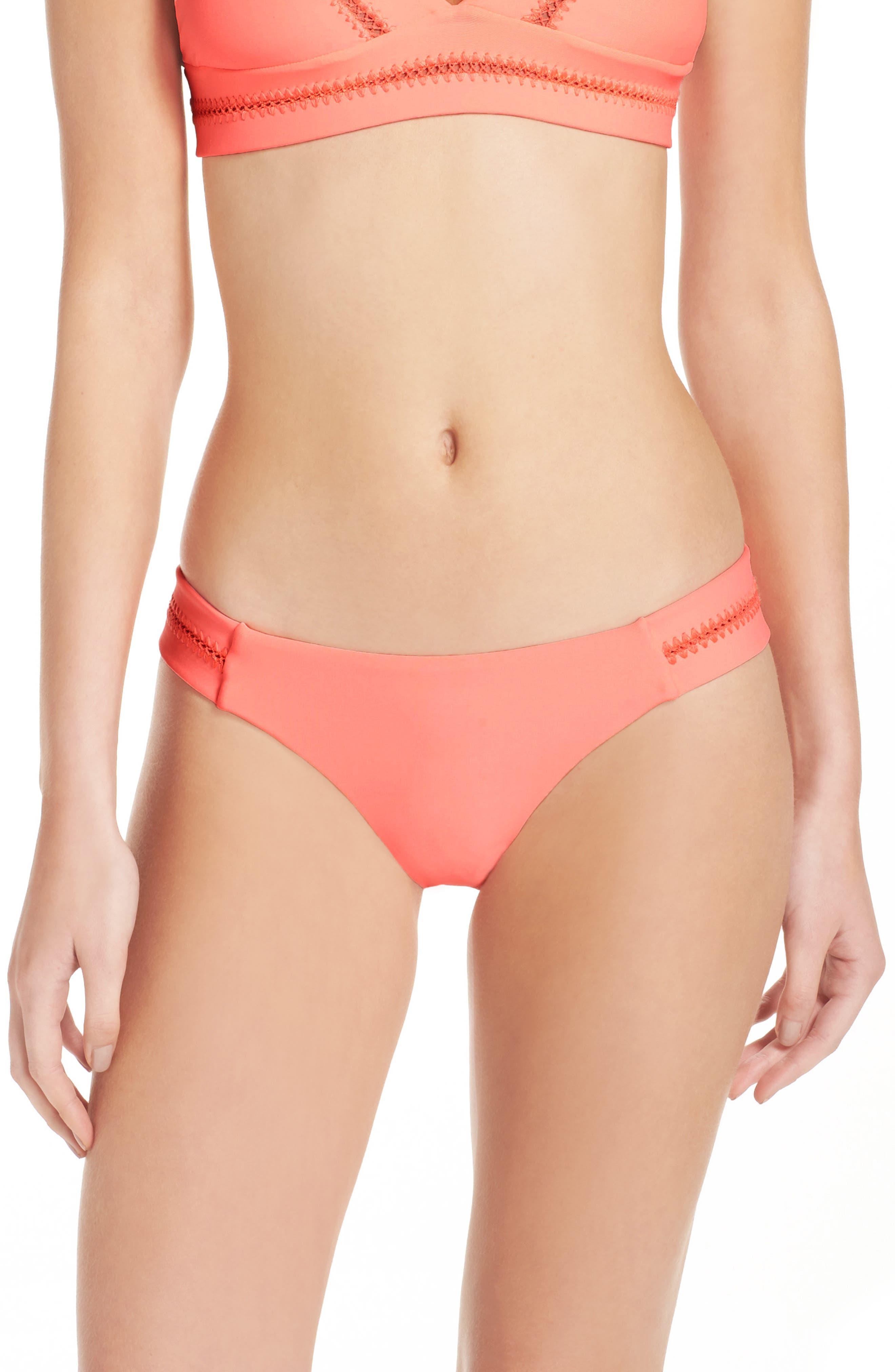 Main Image - PilyQ Stitch Bikini Bottoms