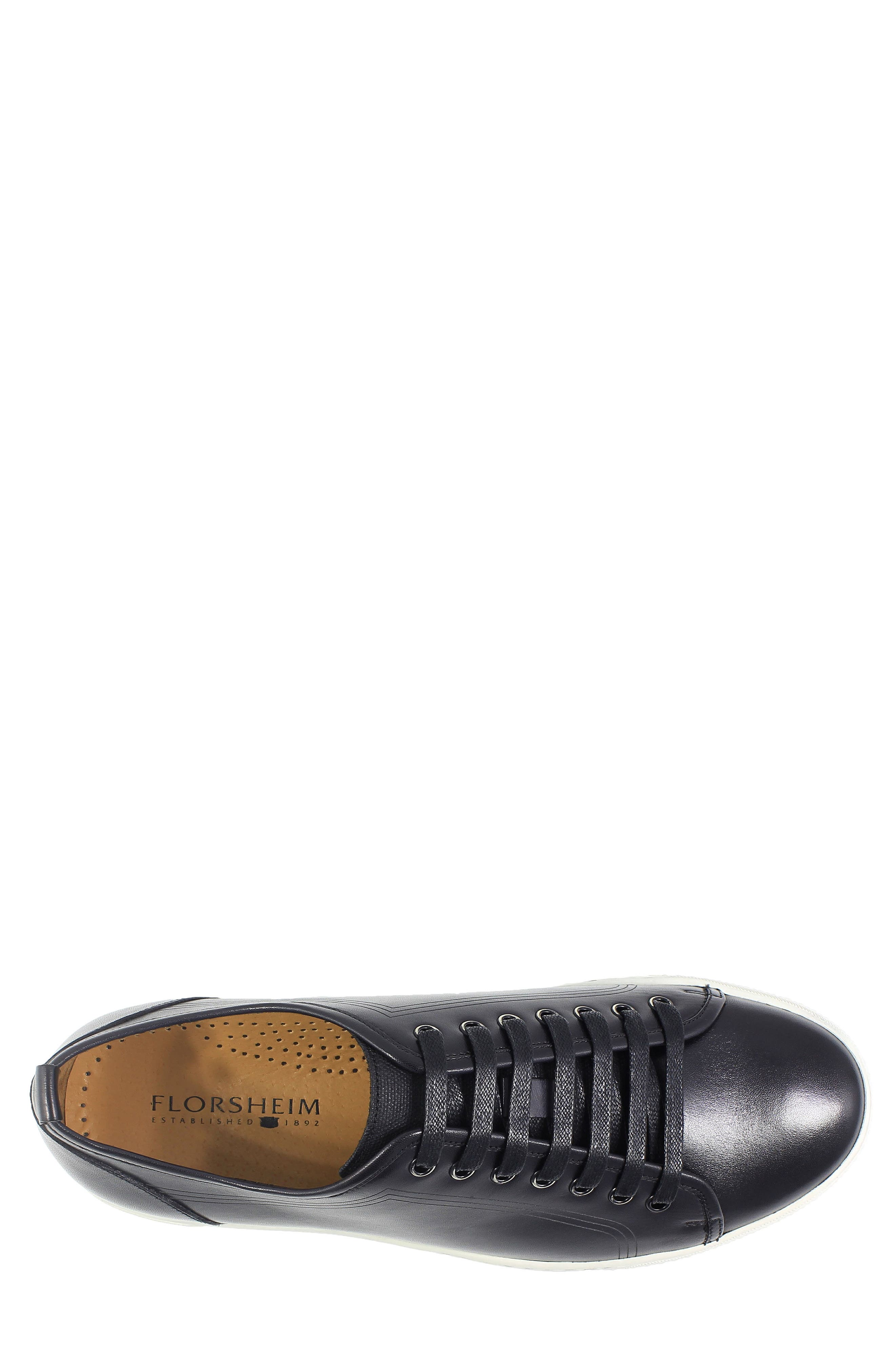 Forward Lo Sneaker,                             Alternate thumbnail 3, color,                             Black/ White Leather
