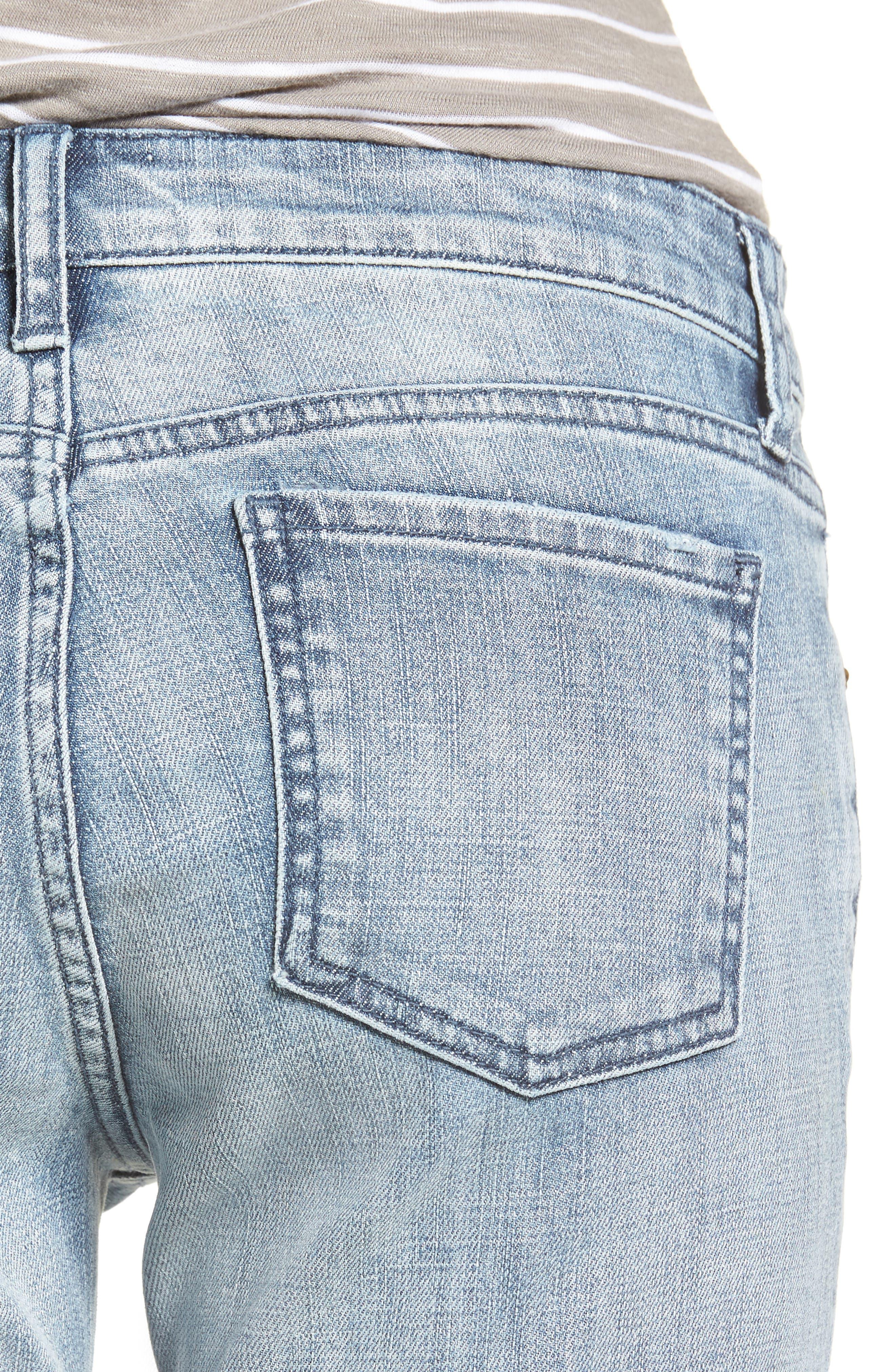 Alternate Image 4  - KUT from the Kloth Catherine Distressed Frayed Hem Boyfriend Jeans (Heartiness)