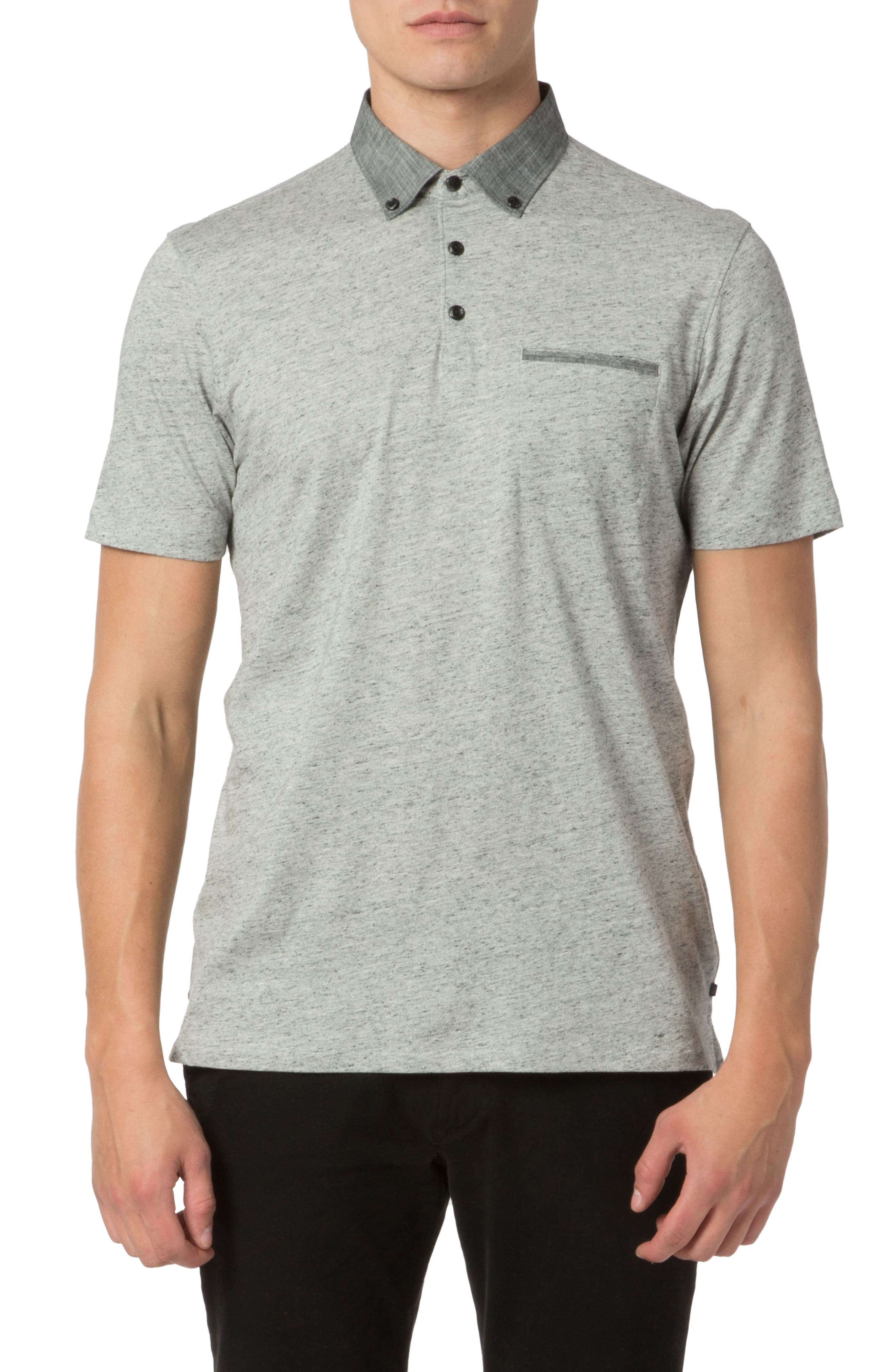 Soft Jersey Polo,                         Main,                         color, Grey Heather