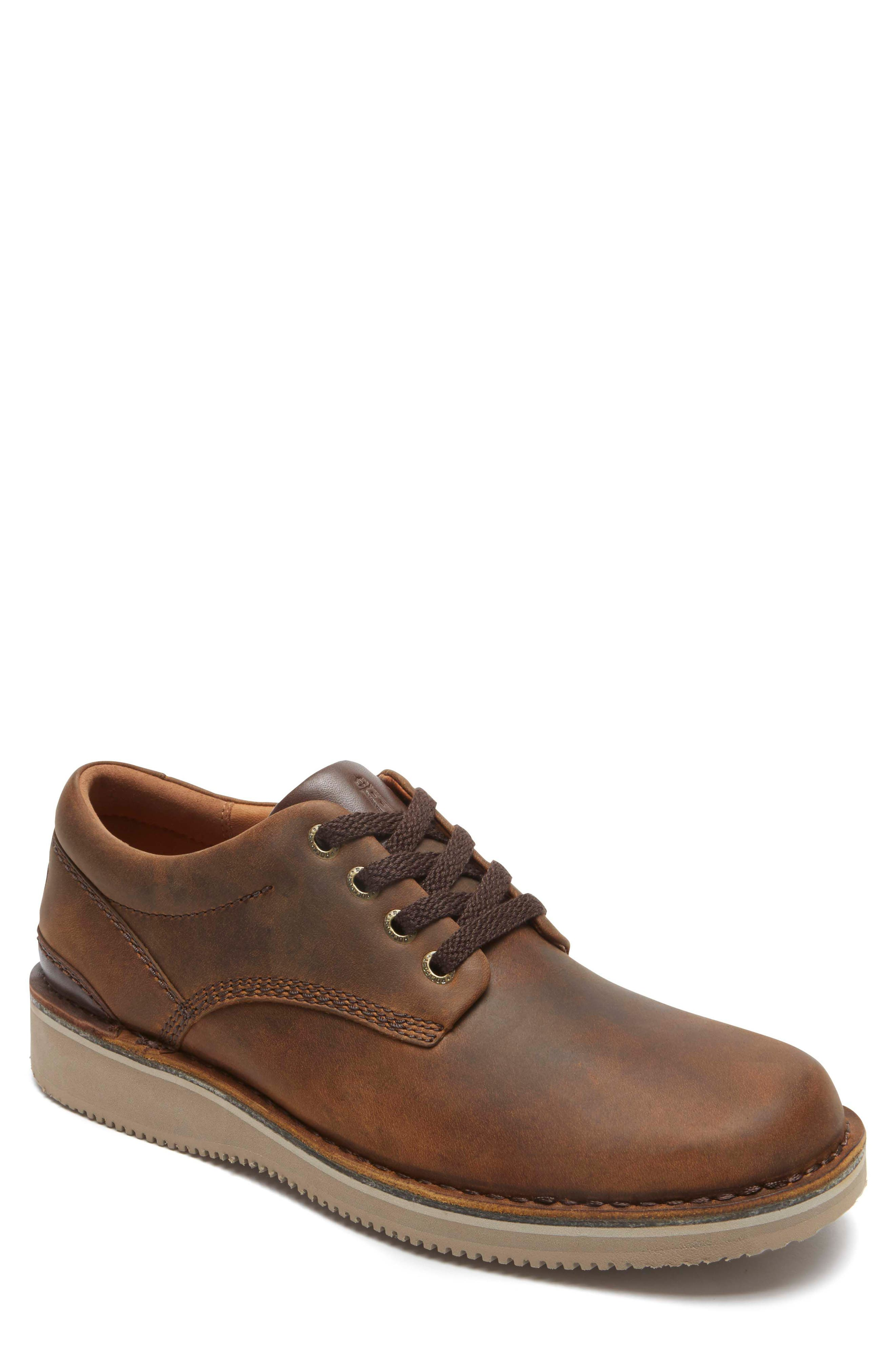 'Prestige Point' Plain Toe Derby,                             Main thumbnail 1, color,                             Beeswax Leather