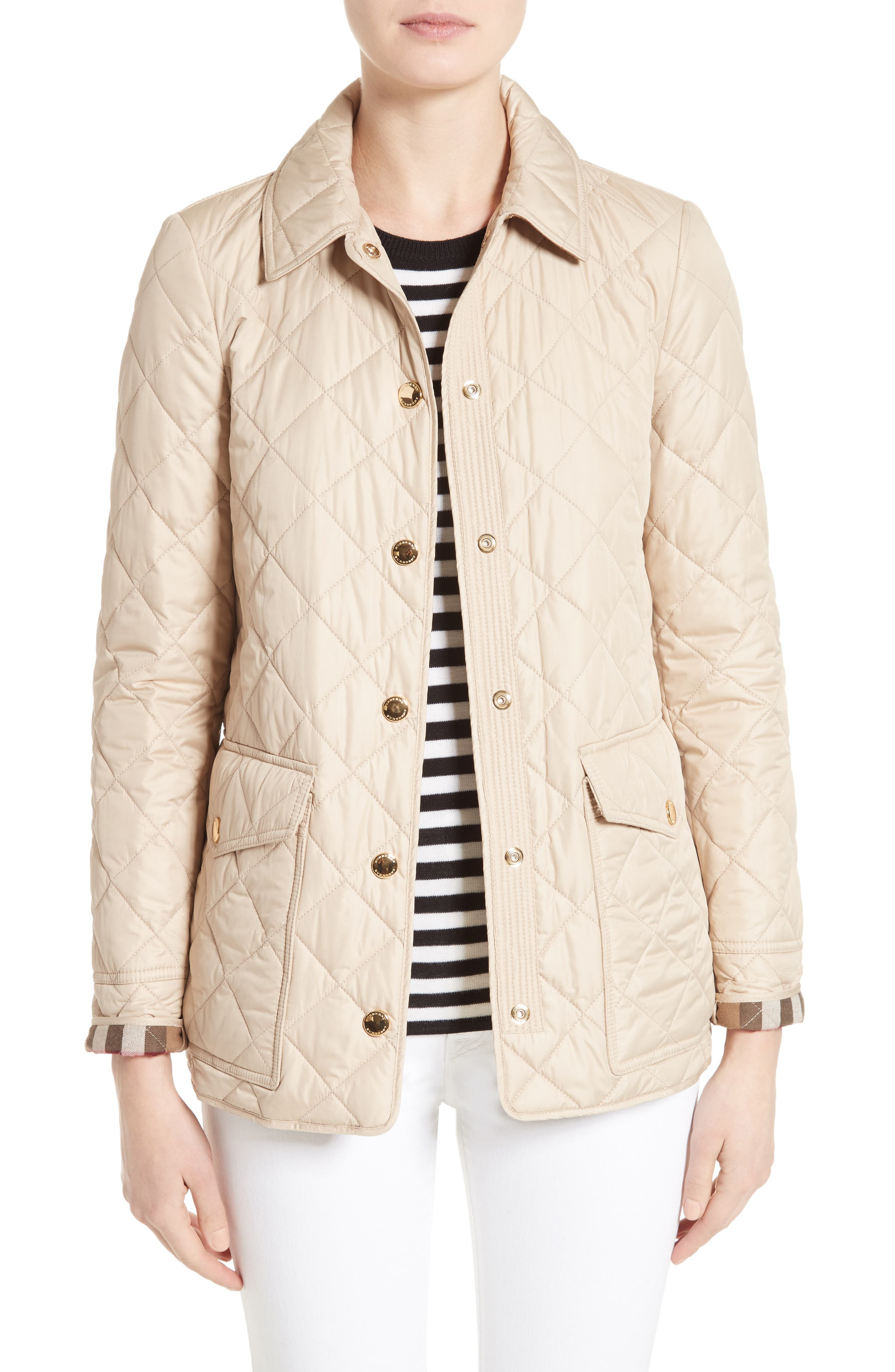 Alternate Image 1 Selected - Burberry Westbridge Quilted Jacket