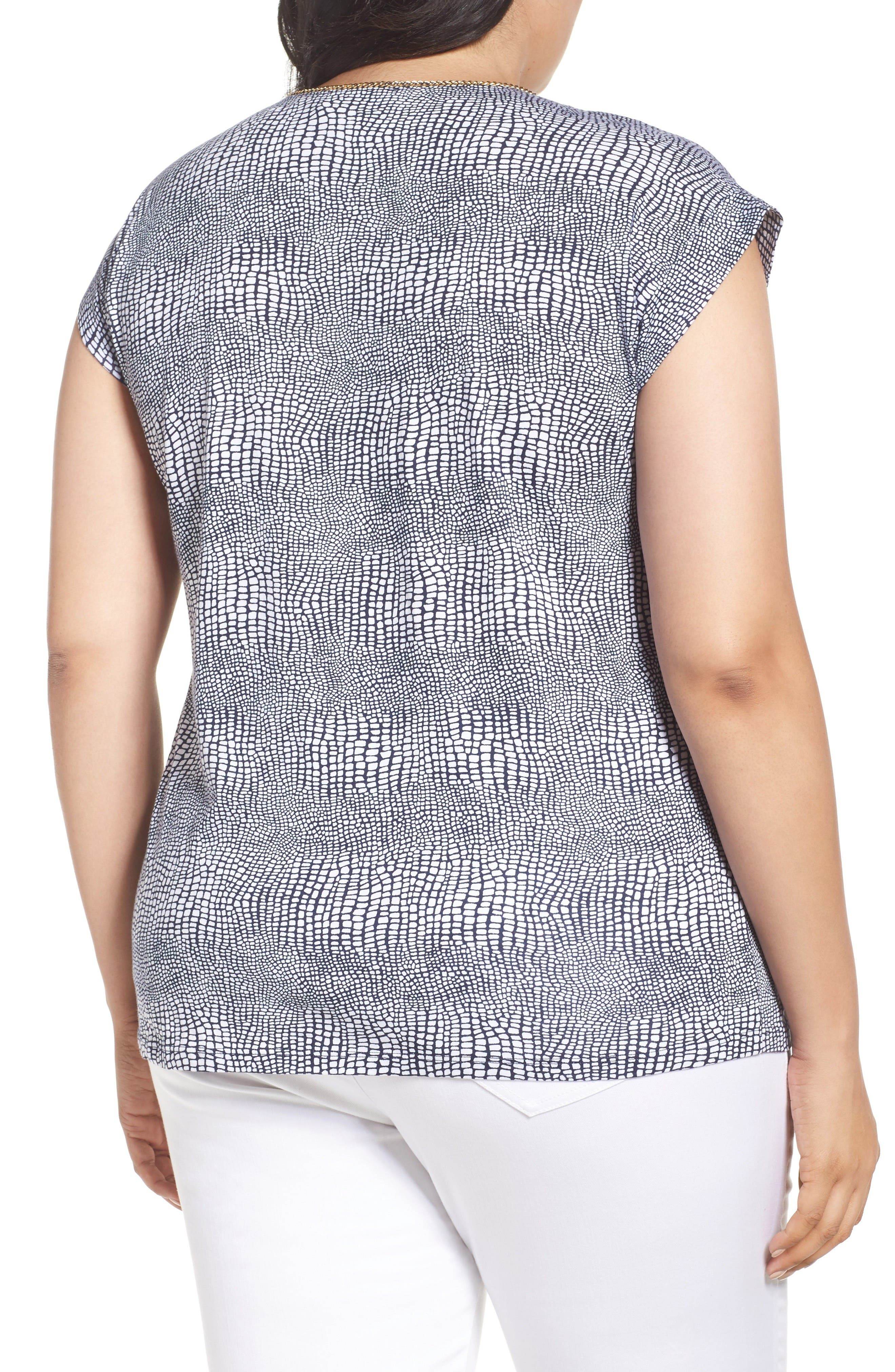 Alternate Image 2  - MICHAEL Michael Kors Zephyr Chain Neck Top (Plus Size)