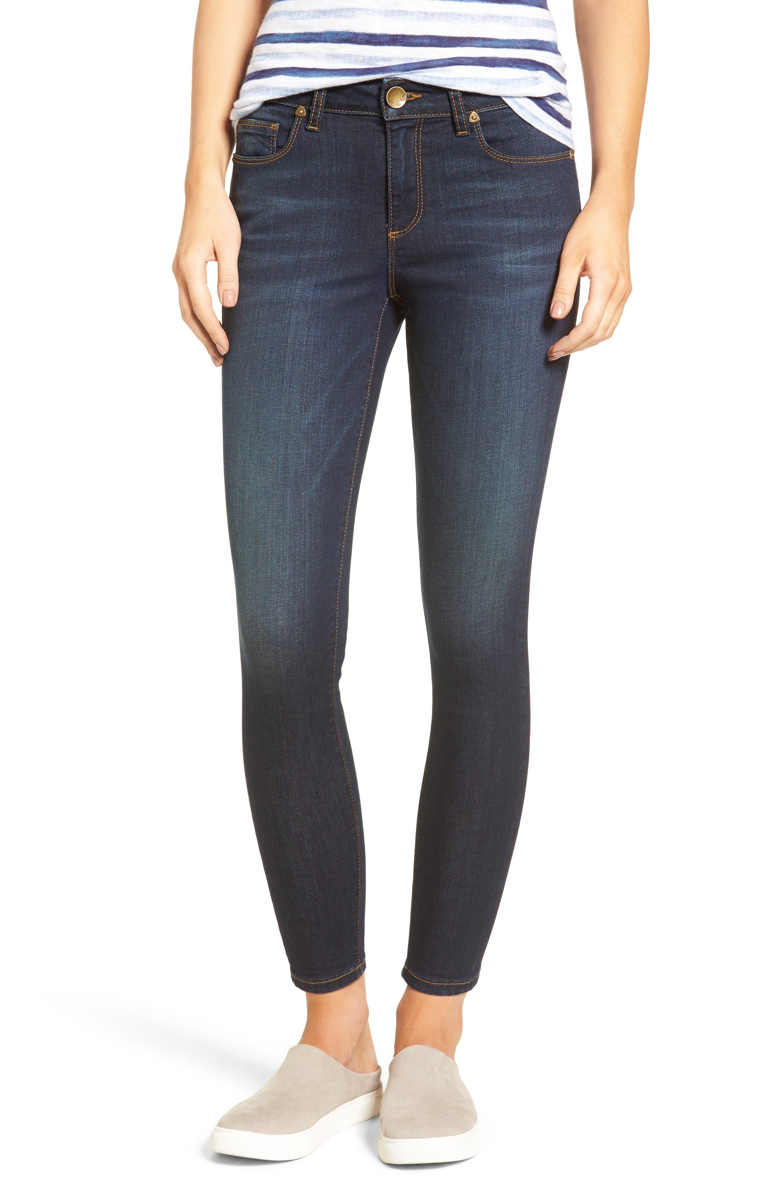 Main Image - KUT from the Kloth Kurvy Ankle Skinny Jeans (Blinding)