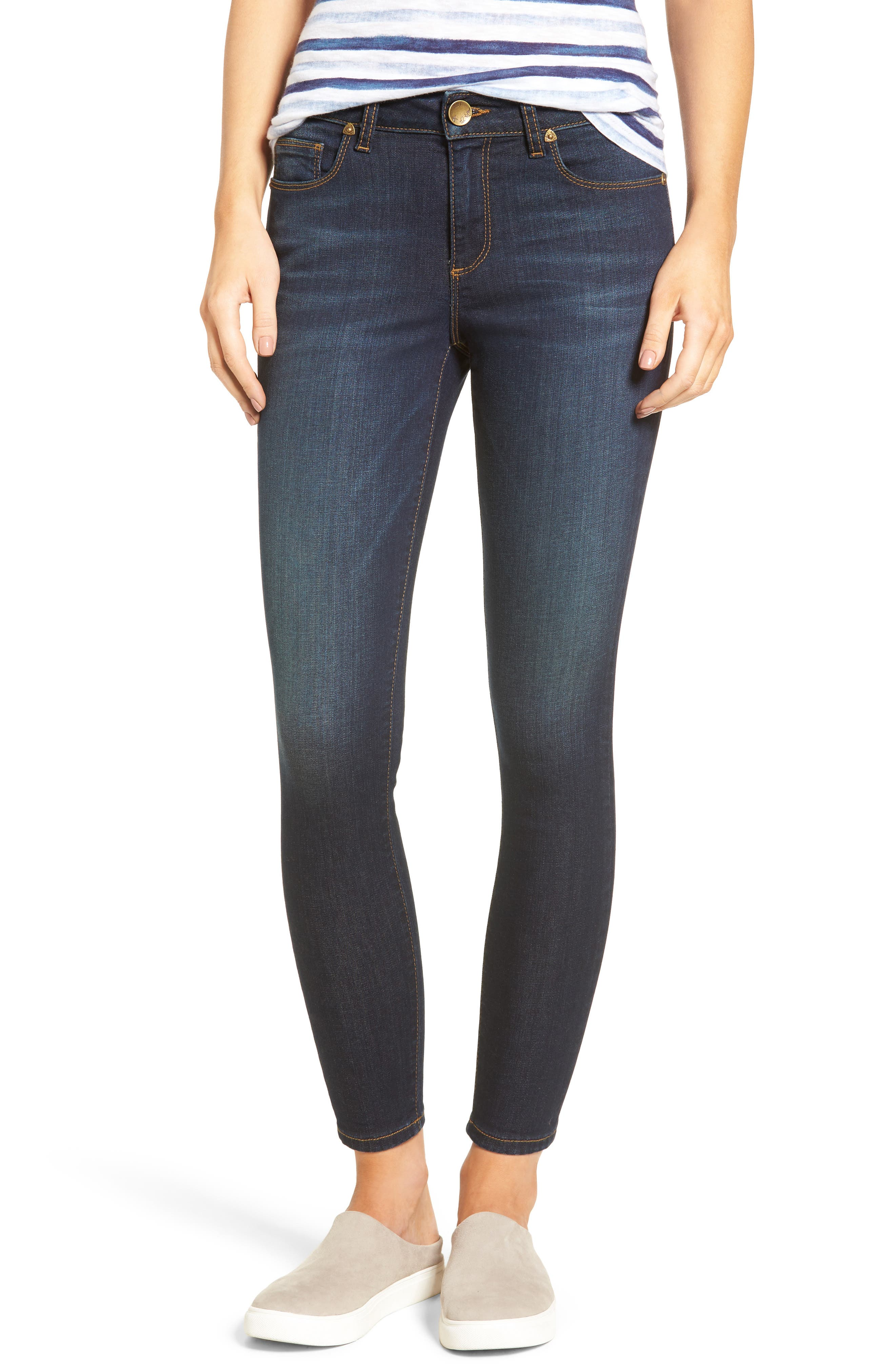 Kurvy Ankle Skinny Jeans,                         Main,                         color, Blinding