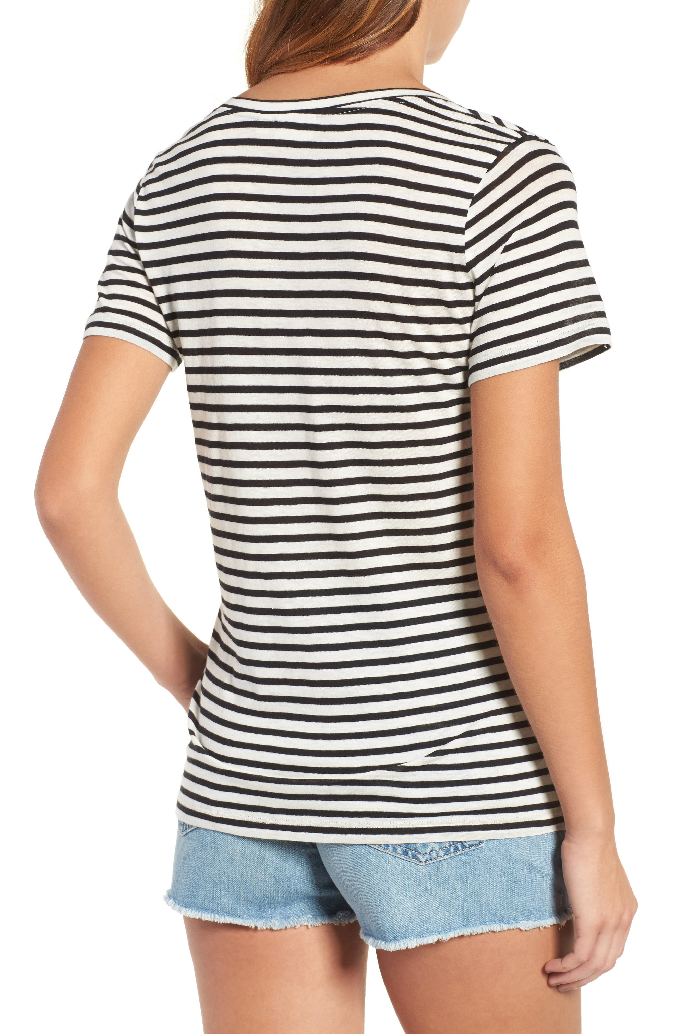 Alternate Image 2  - AG Kiara Stripe Tee