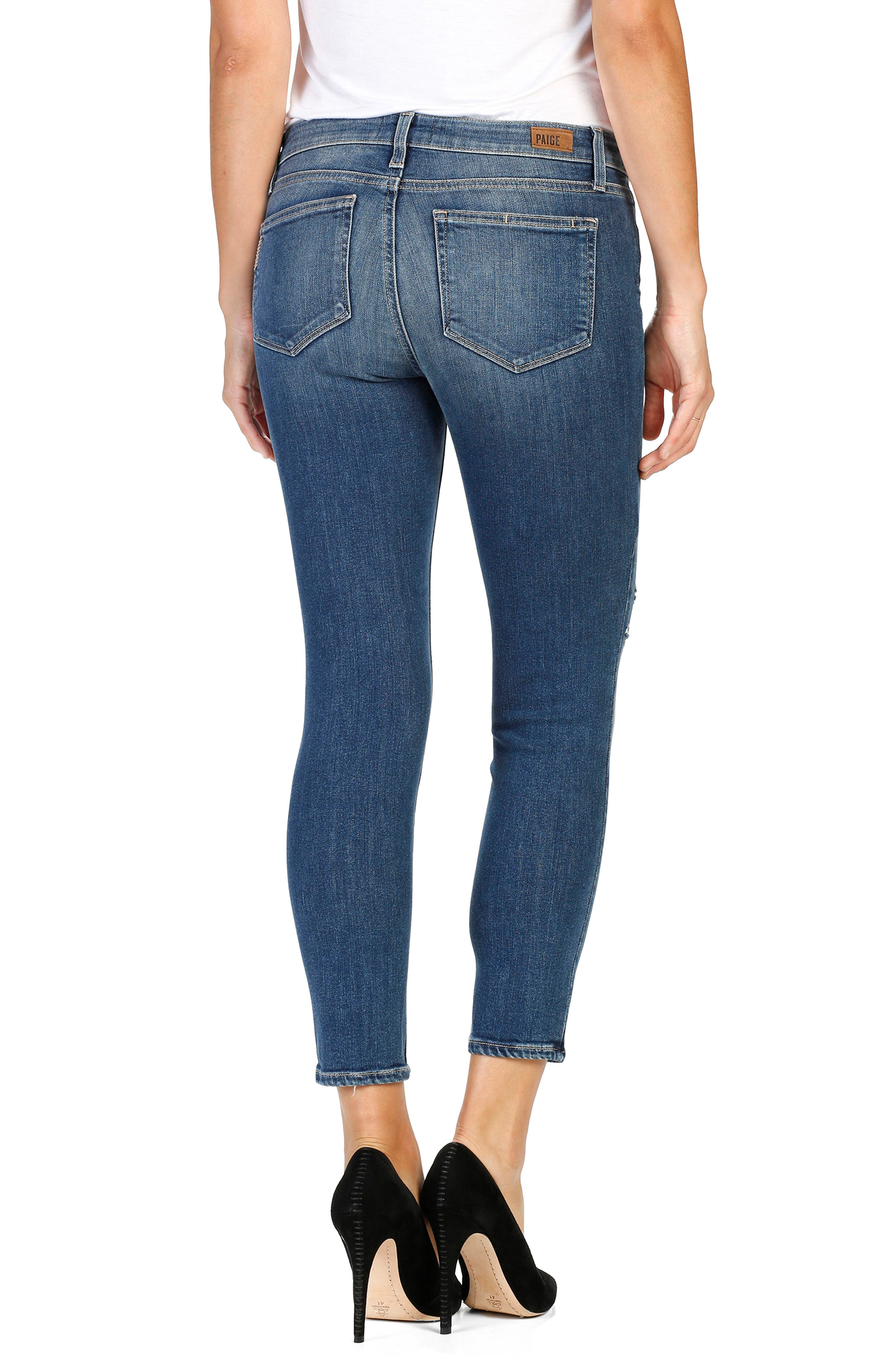 Verdugo Crop Skinny Jeans,                             Alternate thumbnail 2, color,                             Ramona Destructed