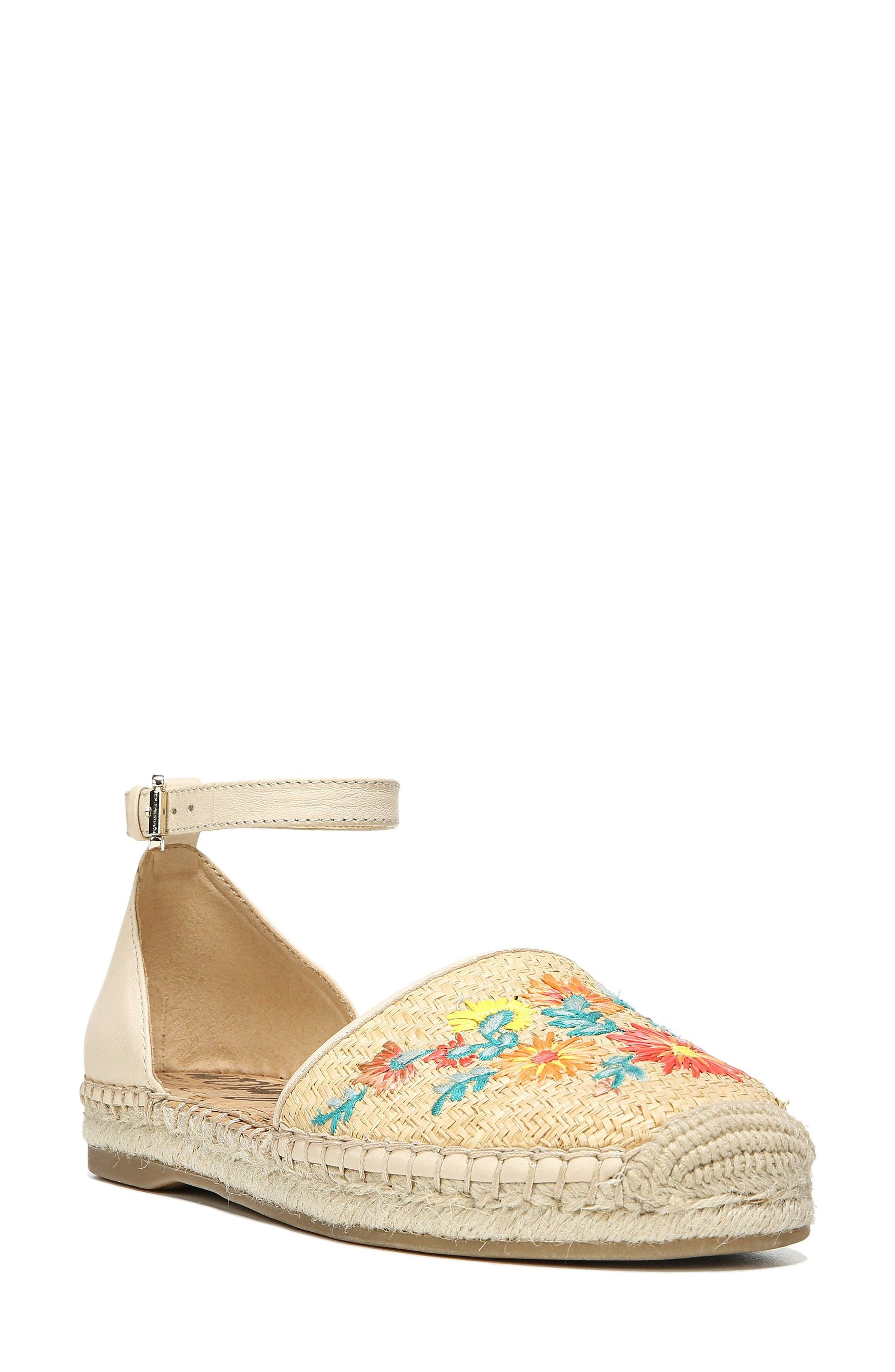 SAM EDELMAN Jemmie Peacock Embroidered Espadrille