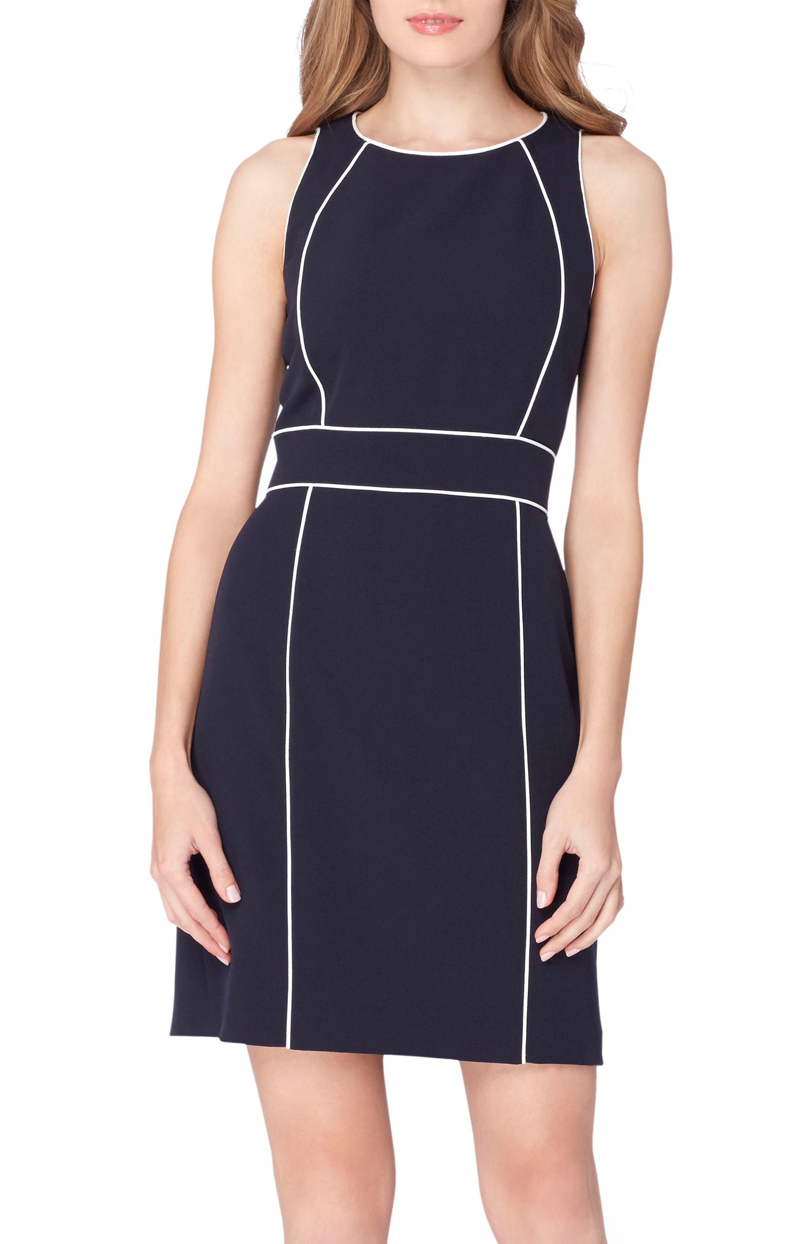 Alternate Image 3  - Tahari Colorblock Sheath Dress (Regular & Petite)