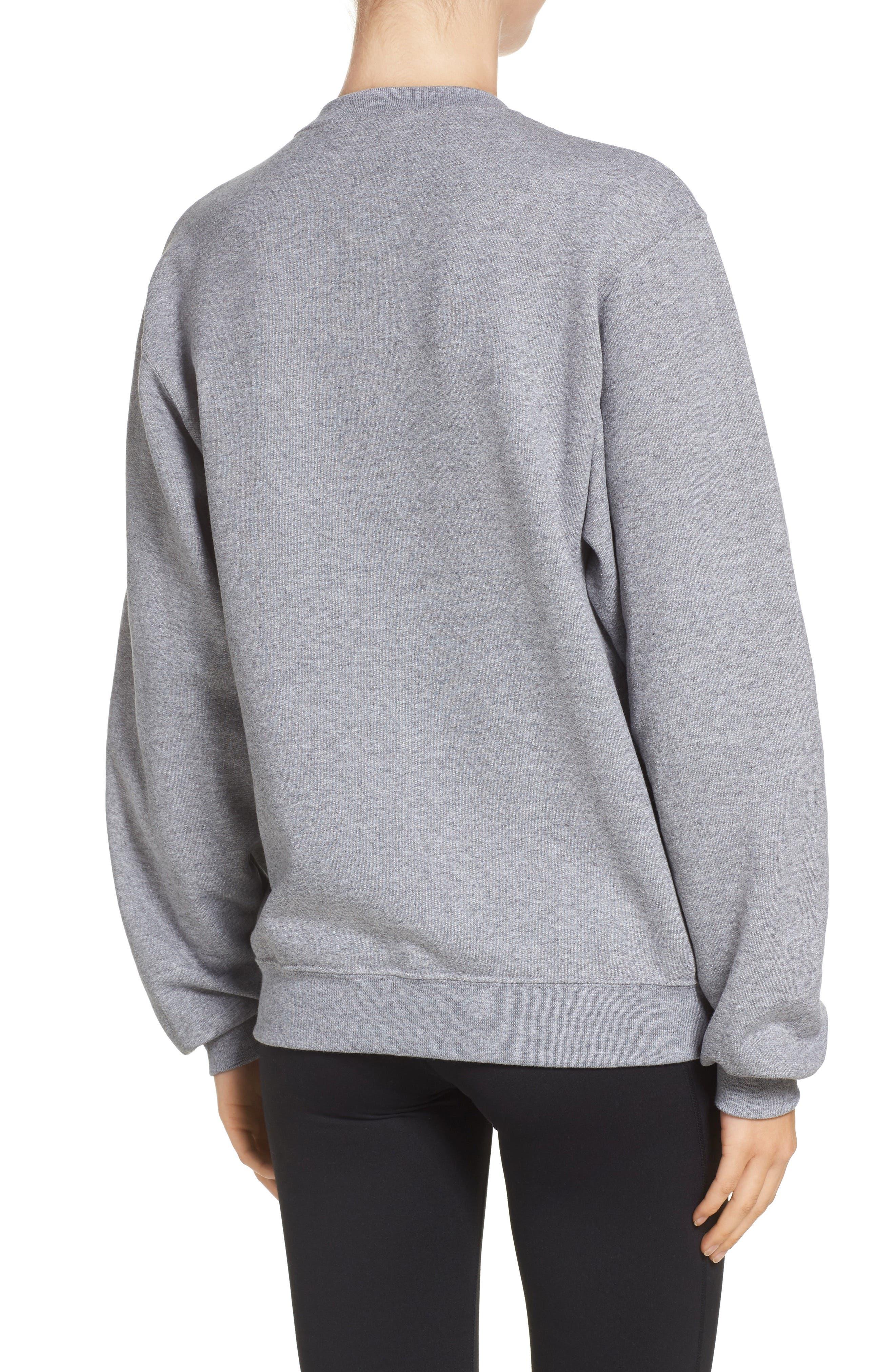 Workout Brunch Repeat Sweatshirt,                             Alternate thumbnail 2, color,                             Grey