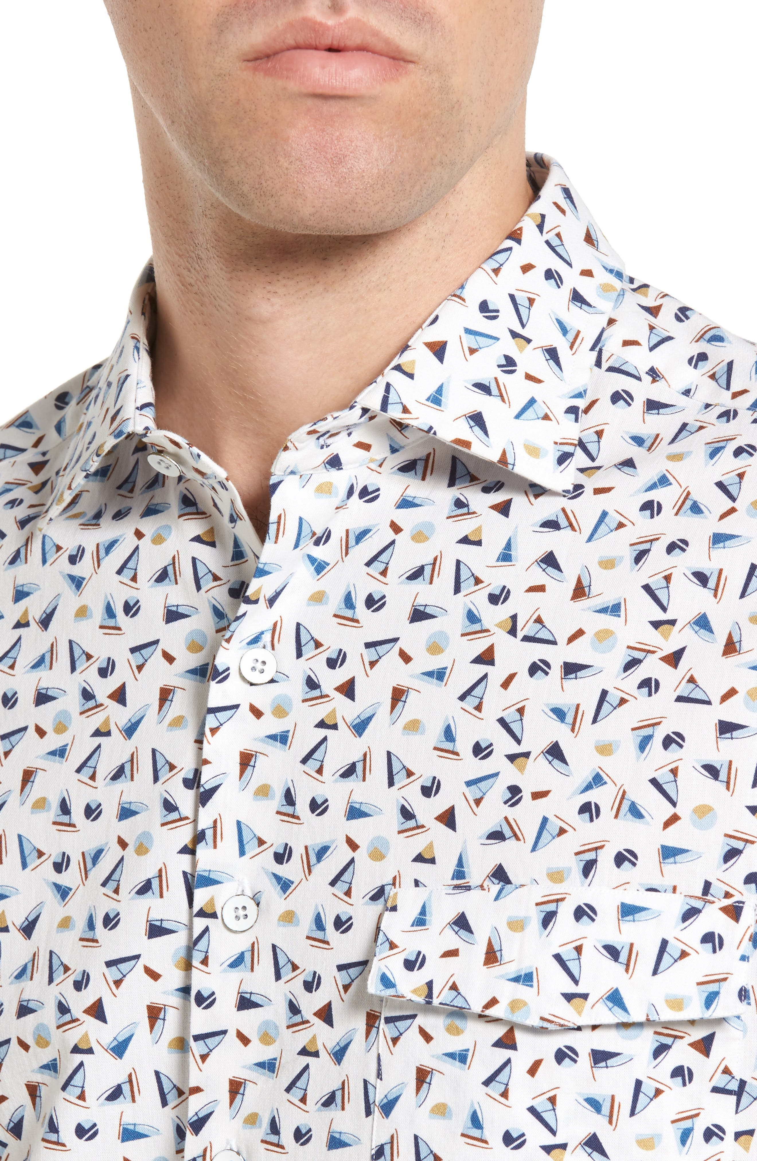 Alternate Image 4  - Rodd & Gunn Coal Island Original Fit Print Sport Shirt