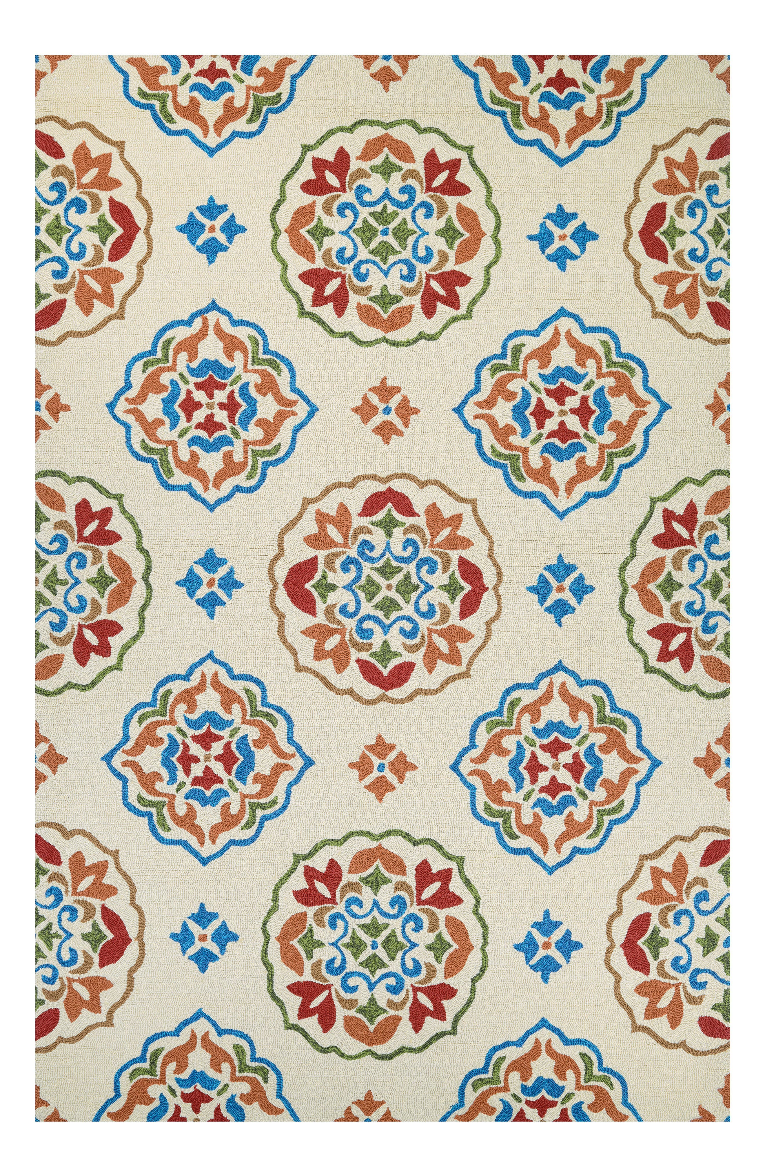 San Clemente Indoor/Outdoor Rug,                             Main thumbnail 1, color,                             Cream/ Red