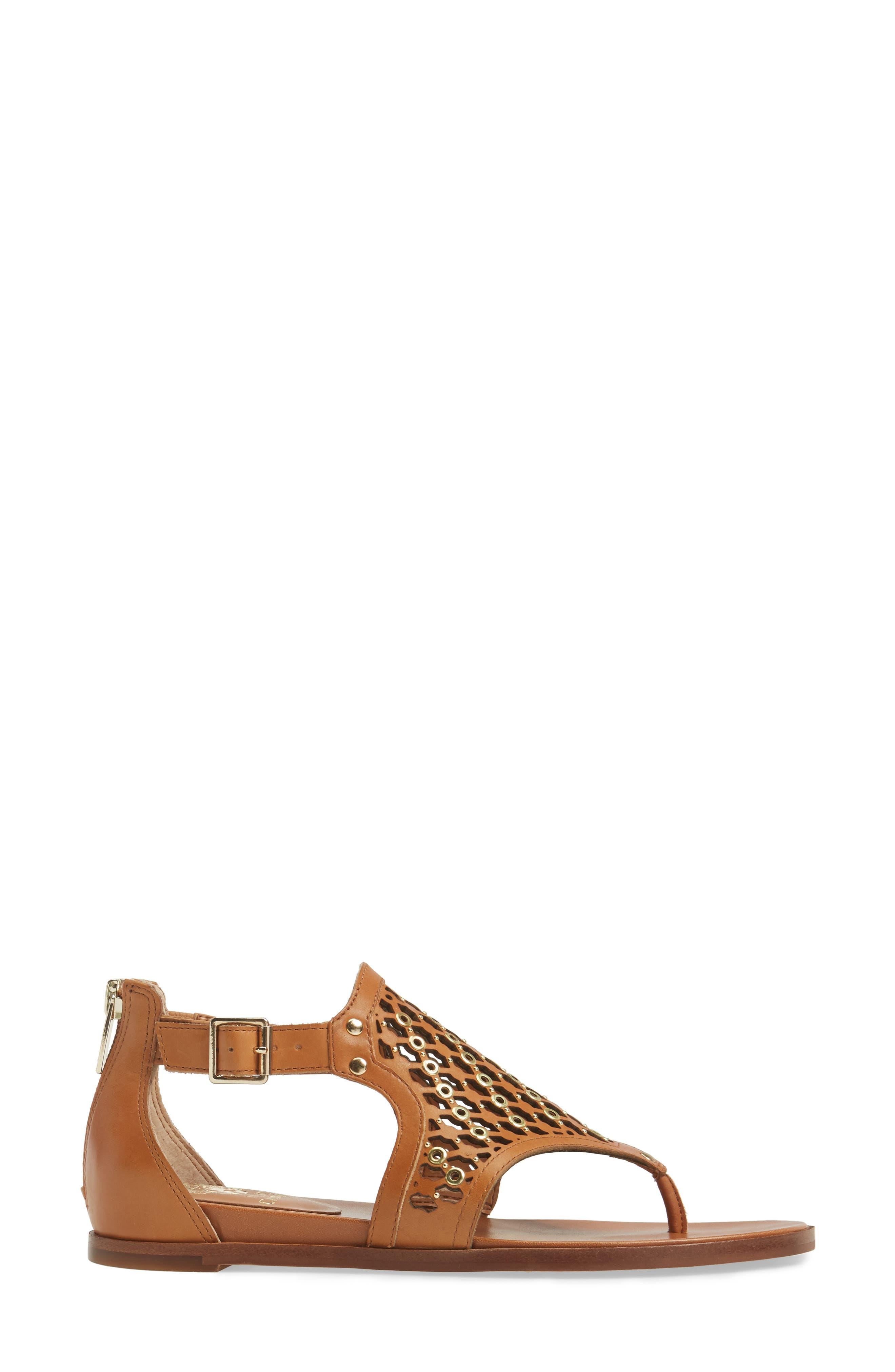 Sitara Sandal,                             Alternate thumbnail 3, color,                             Peanut Leather