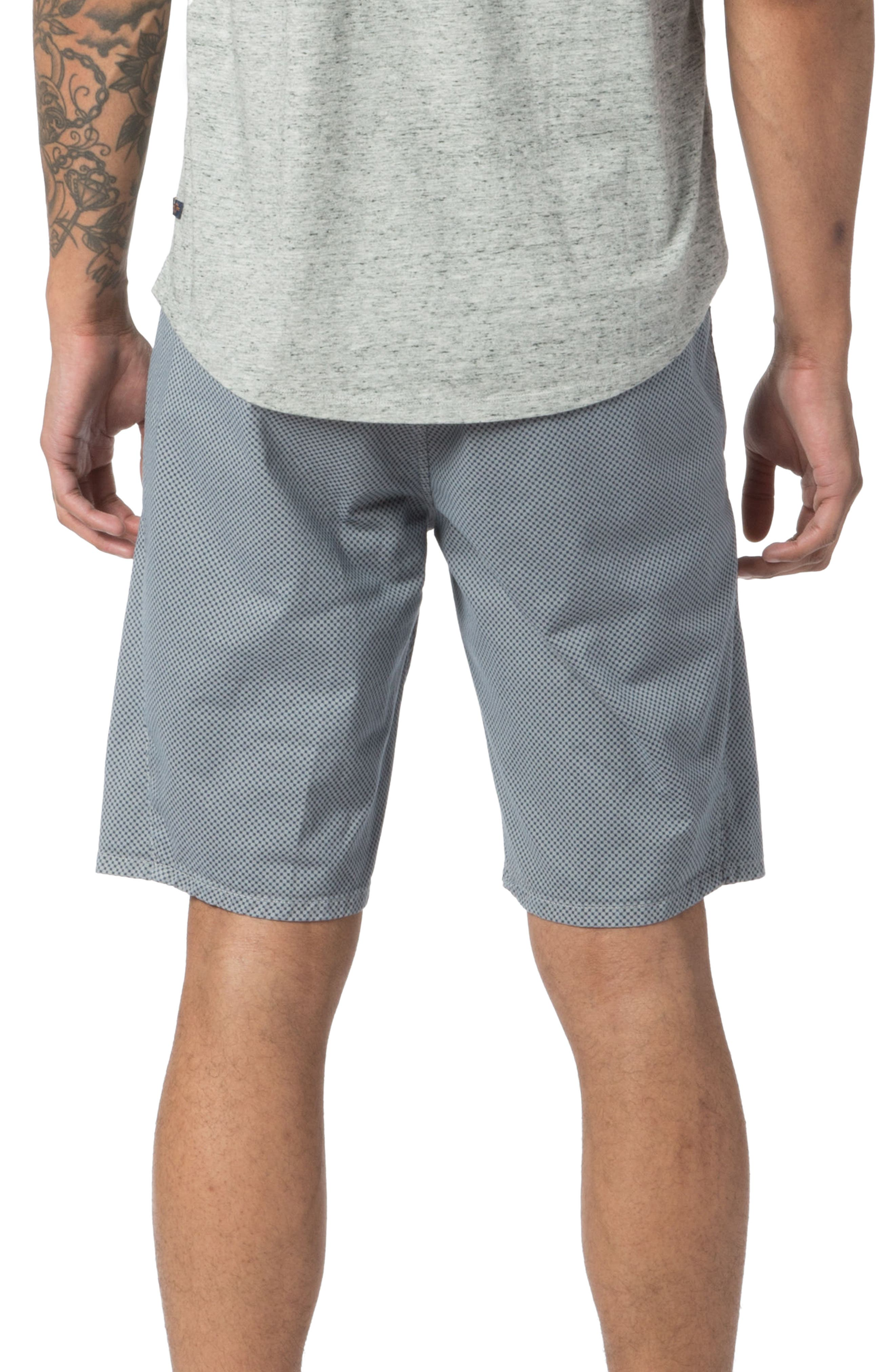 Modern Fit Micro Pattern Chino Shorts,                             Alternate thumbnail 2, color,                             Alloy Micro Cross Dot
