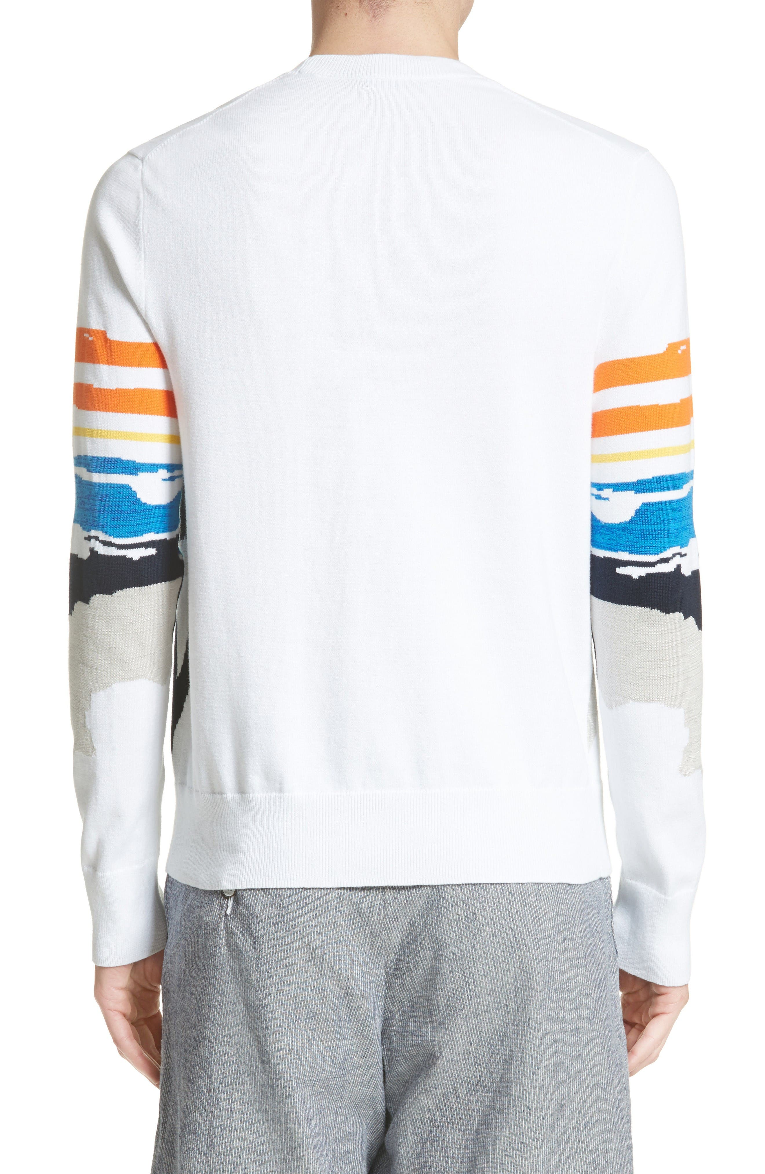 Brody Intarsia Pullover,                             Alternate thumbnail 2, color,                             White