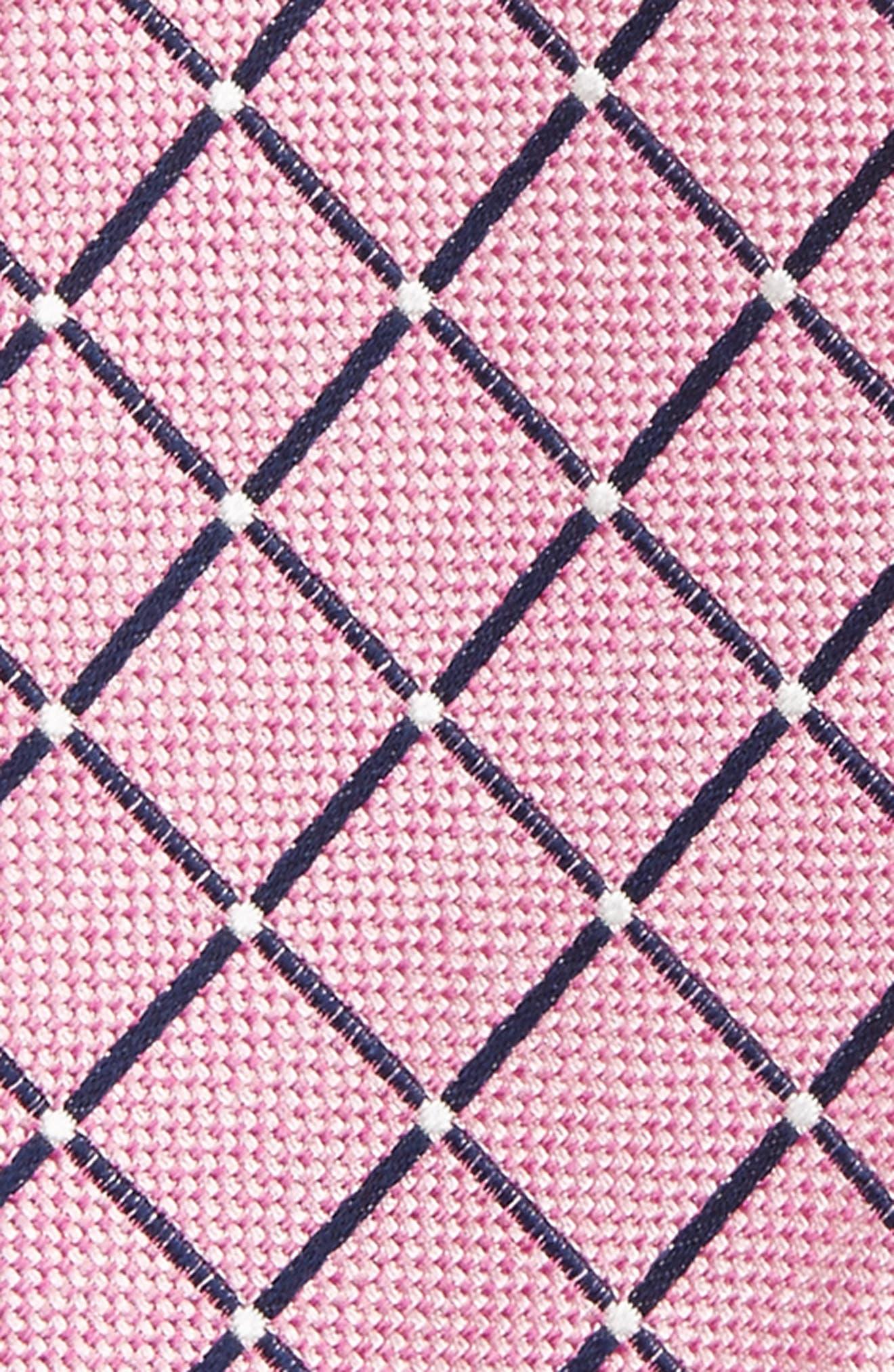 Geometric Silk Tie,                             Alternate thumbnail 3, color,                             Pink