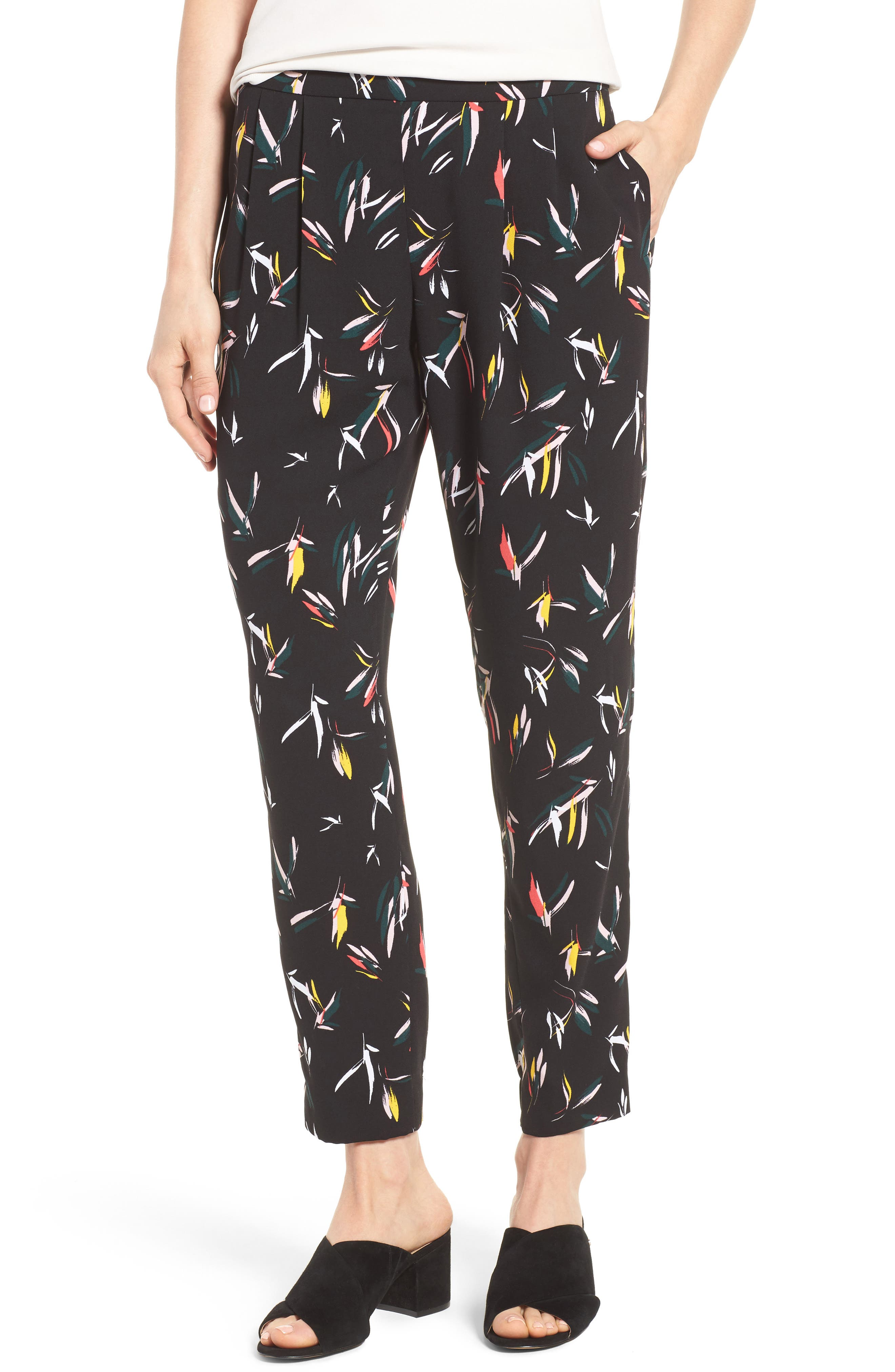HALOGEN<SUP>®</SUP> Print Pull-On Pants