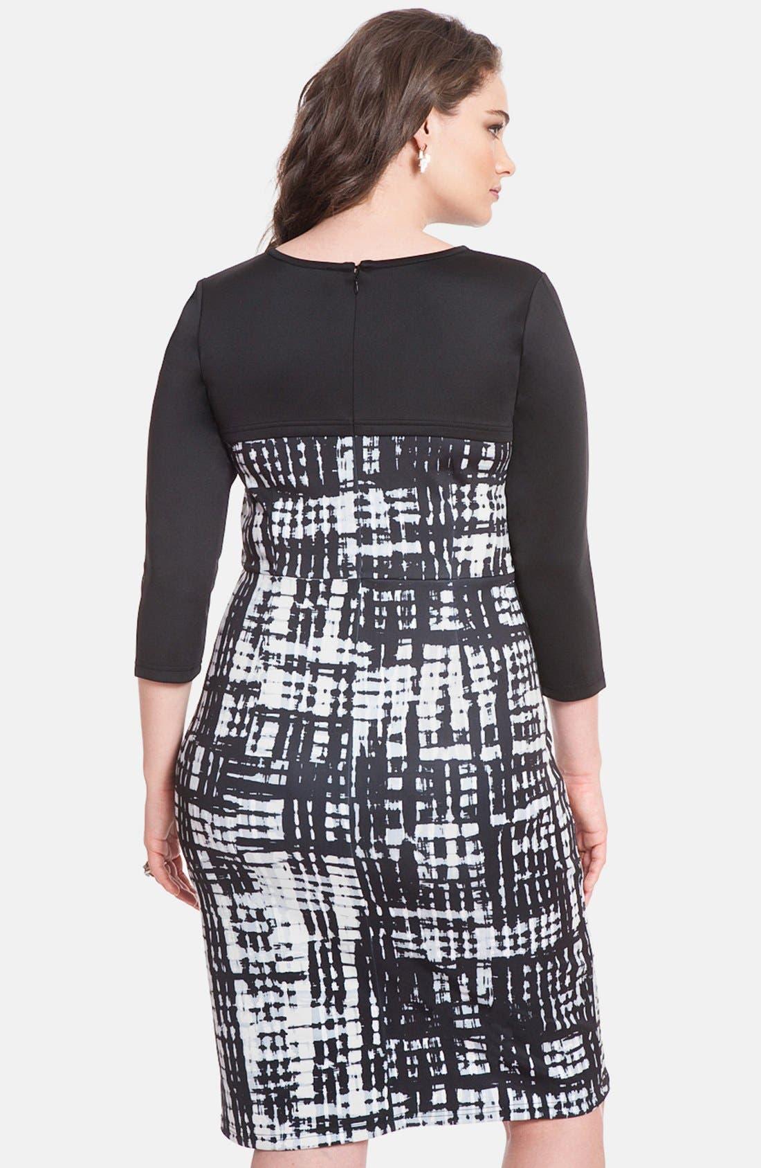 Alternate Image 2  - ELOQUII Print Block Cutout Dress (Plus Size)