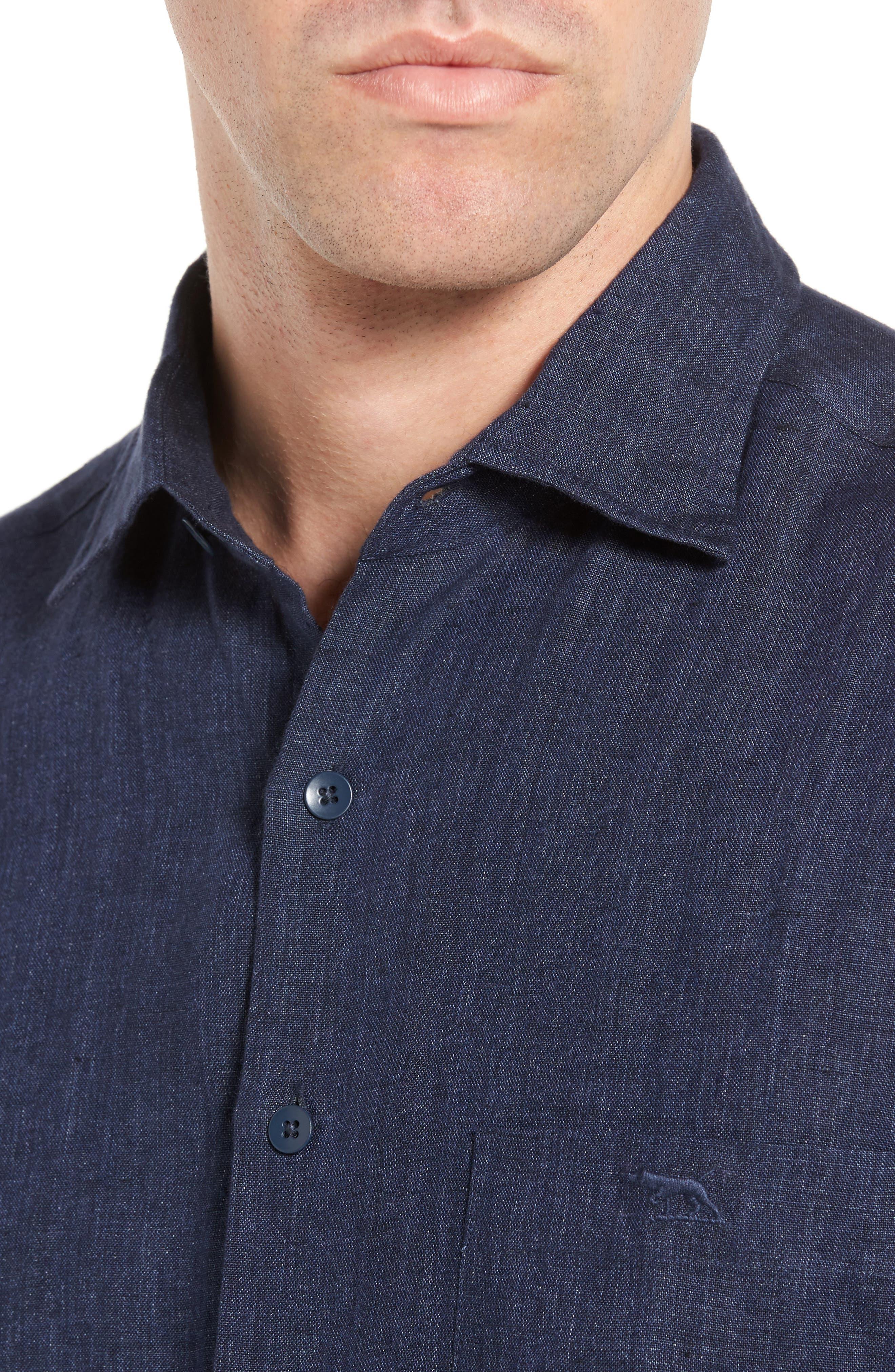 Alternate Image 4  - Rodd & Gunn Mount Bruce Sports Fit Linen Sport Shirt