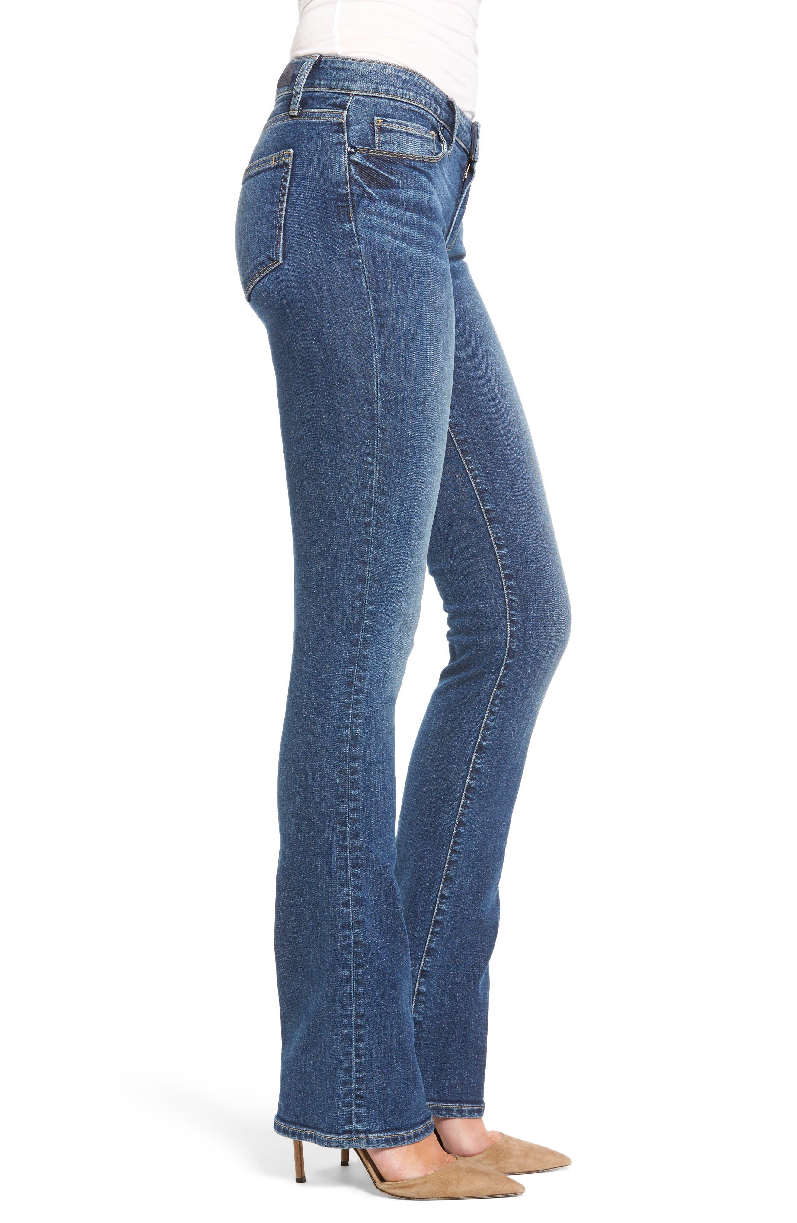 Alternate Image 3  - PAIGE Transcend - Manhattan Bootcut Jeans (Lane)