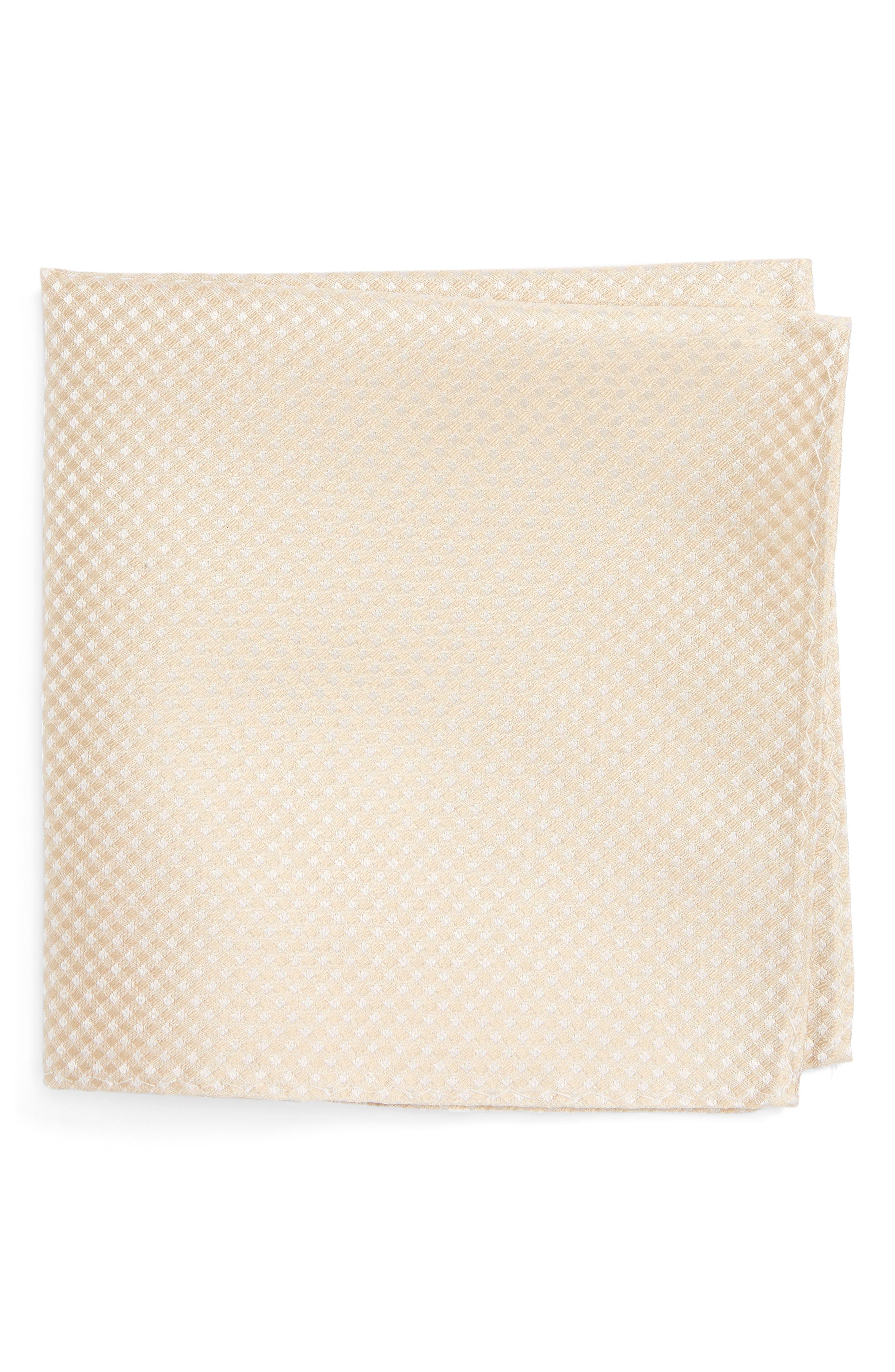 The Tie Bar Check Silk Pocket Square