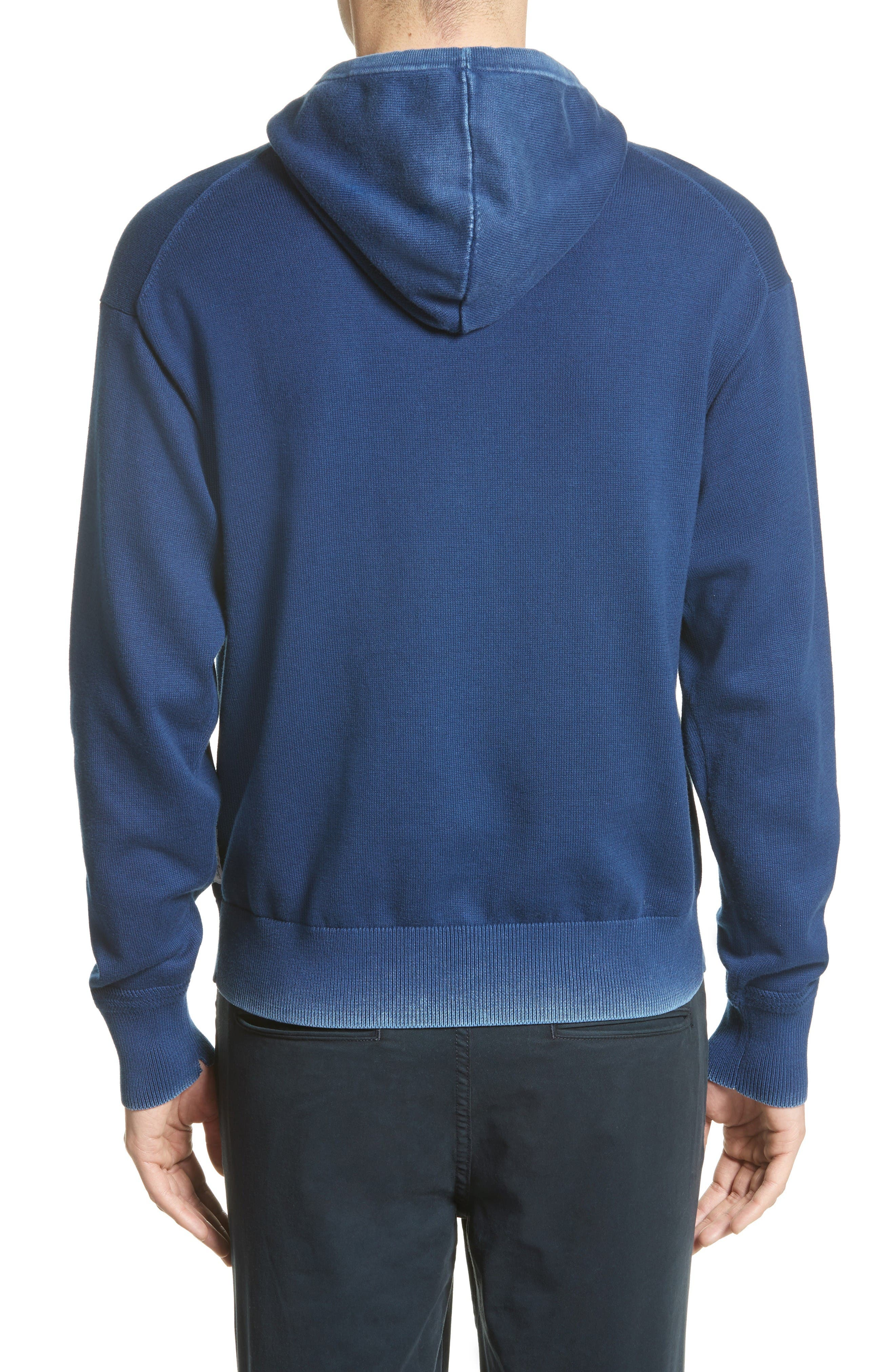 Damon Knit Hoodie,                             Alternate thumbnail 2, color,                             Navy