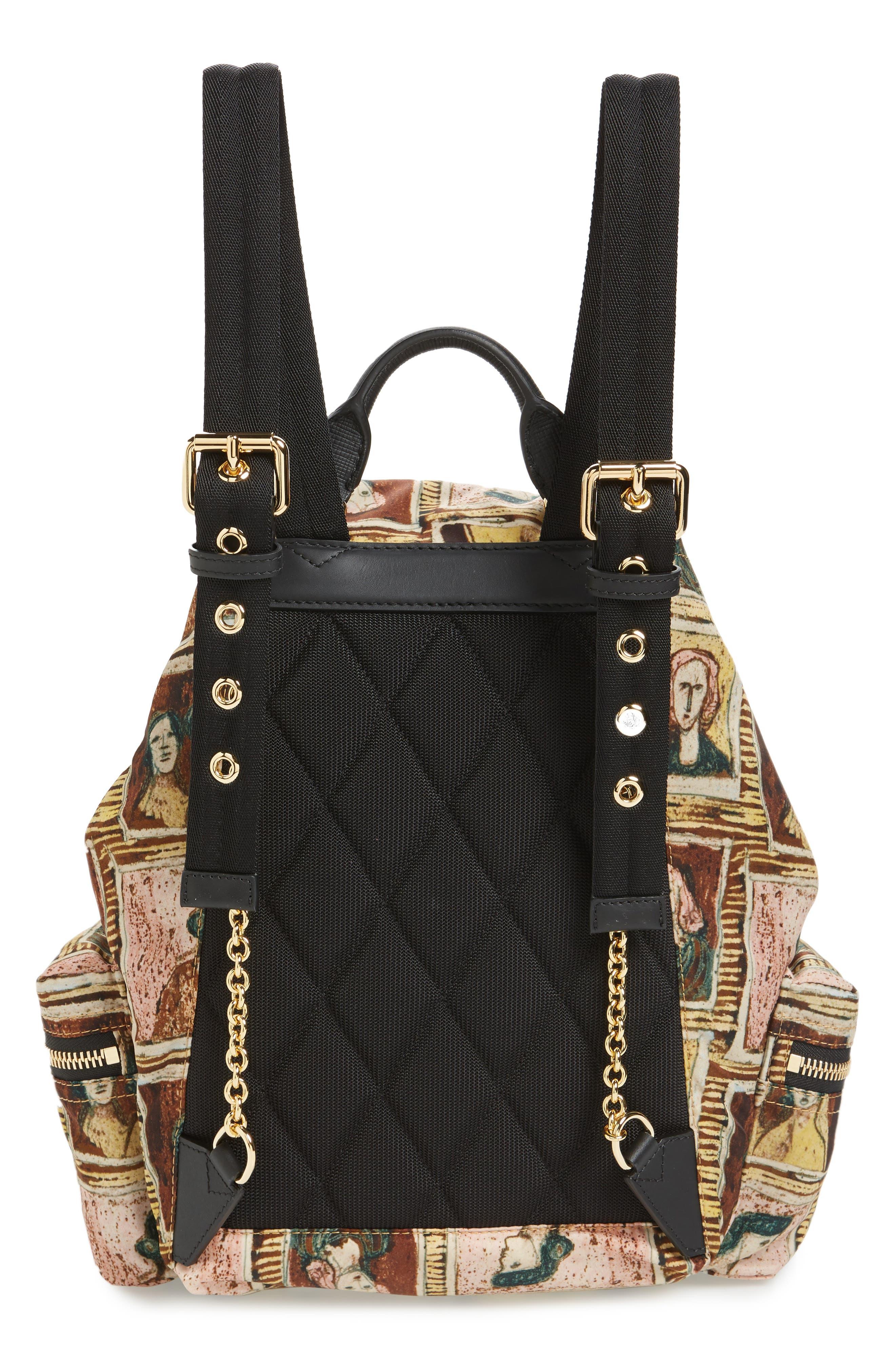 Medium Henrey Backpack,                             Alternate thumbnail 3, color,                             Umber Brown Multi