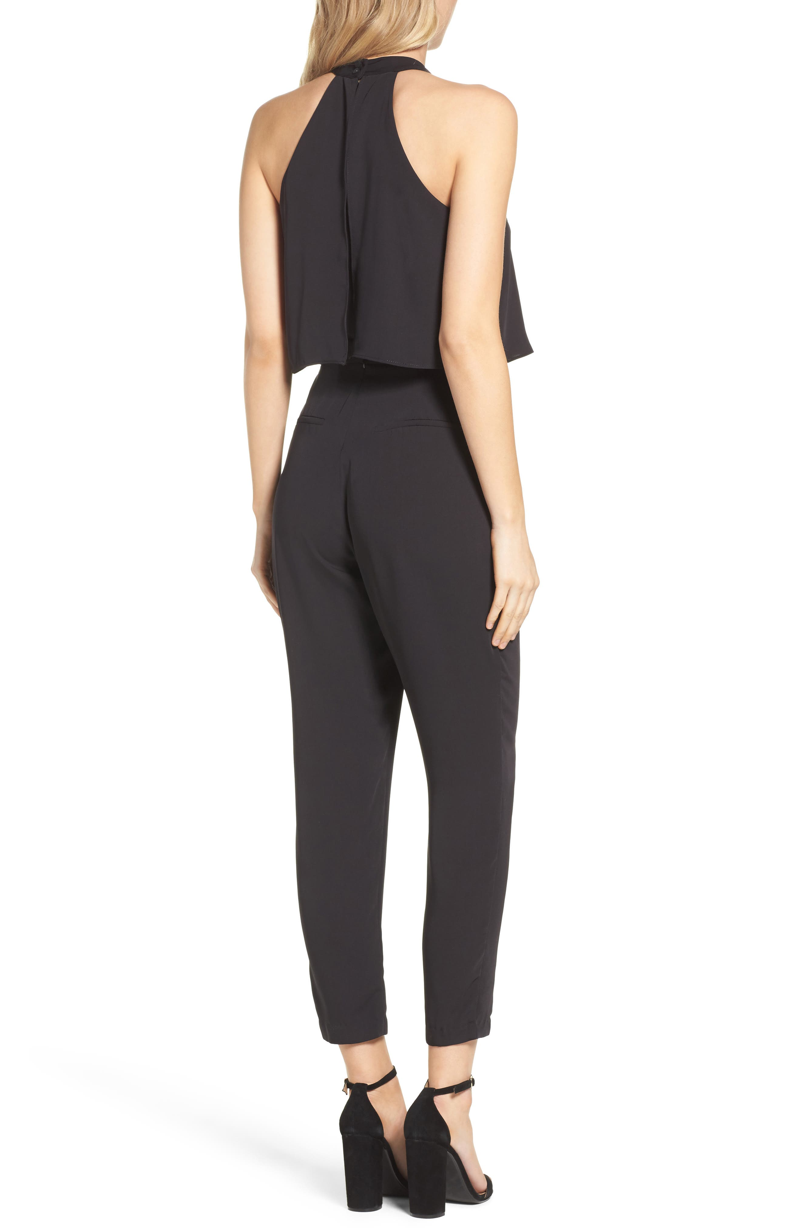 Nayden Popover Jumpsuit,                             Alternate thumbnail 2, color,                             Black