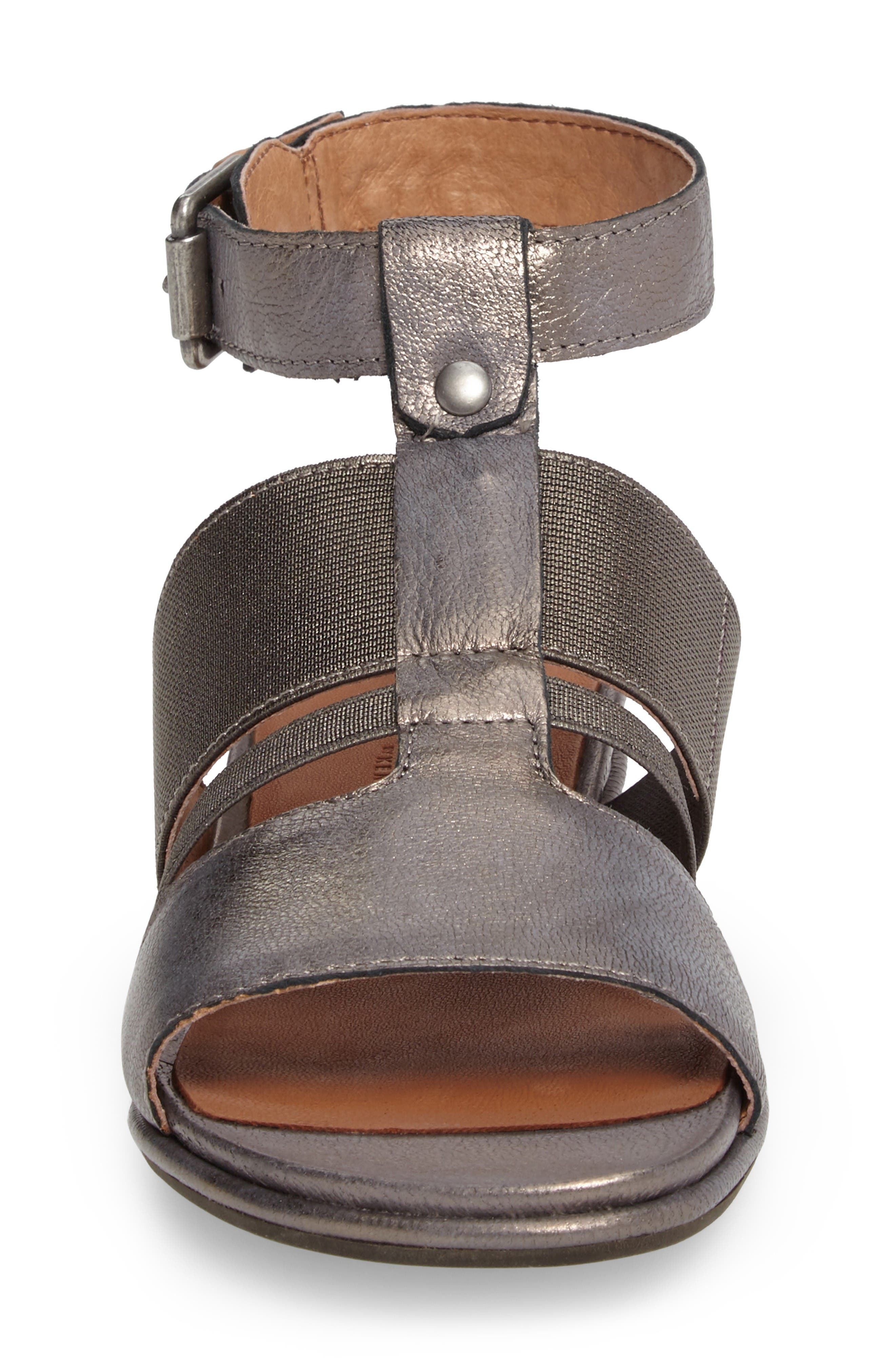 by Kenneth Cole Ophelia Sandal,                             Alternate thumbnail 4, color,                             Pewter Leather