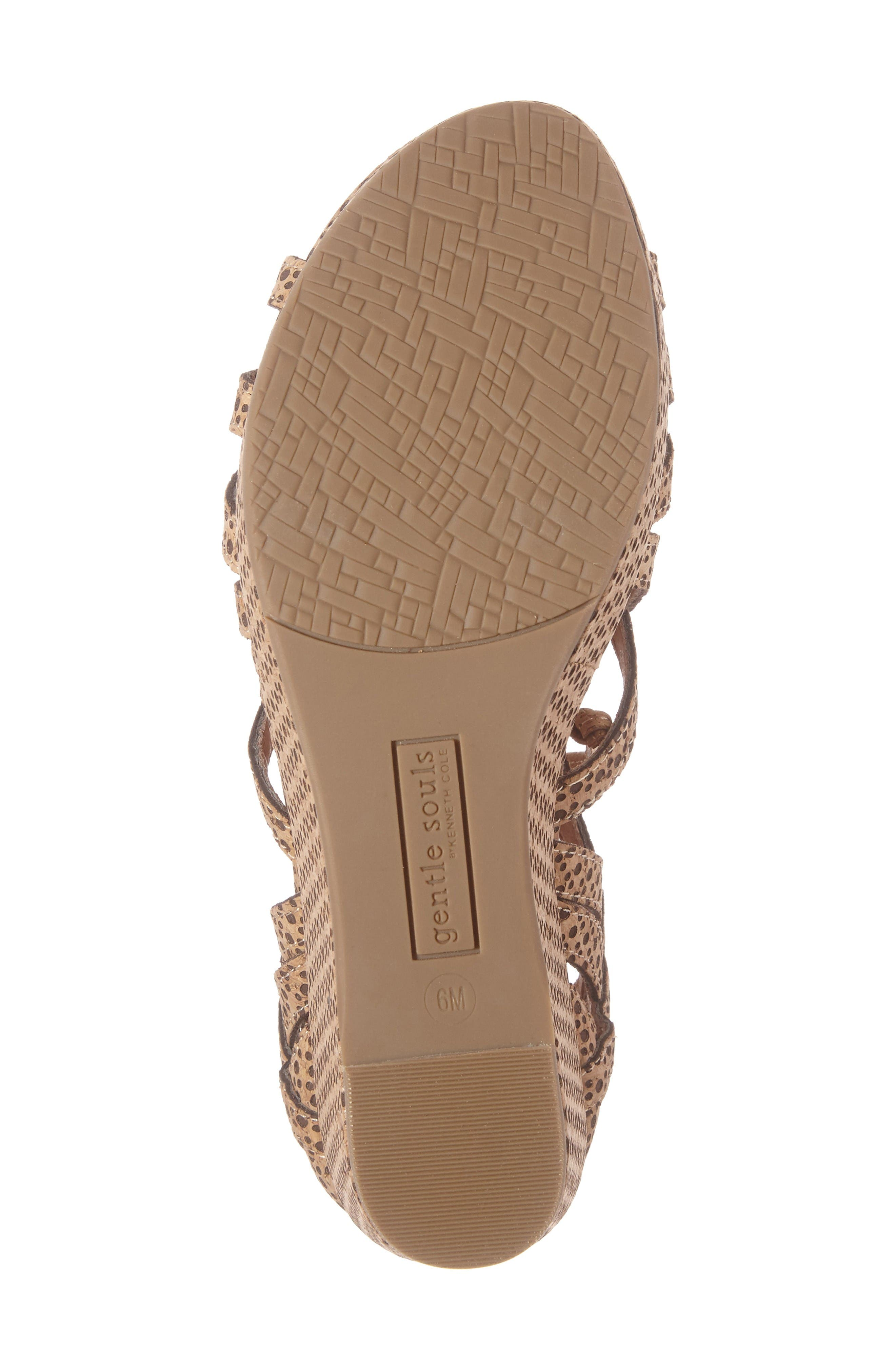 by Kenneth Cole 'Joy' Lace Up Nubuck Sandal,                             Alternate thumbnail 6, color,                             Natural Combo