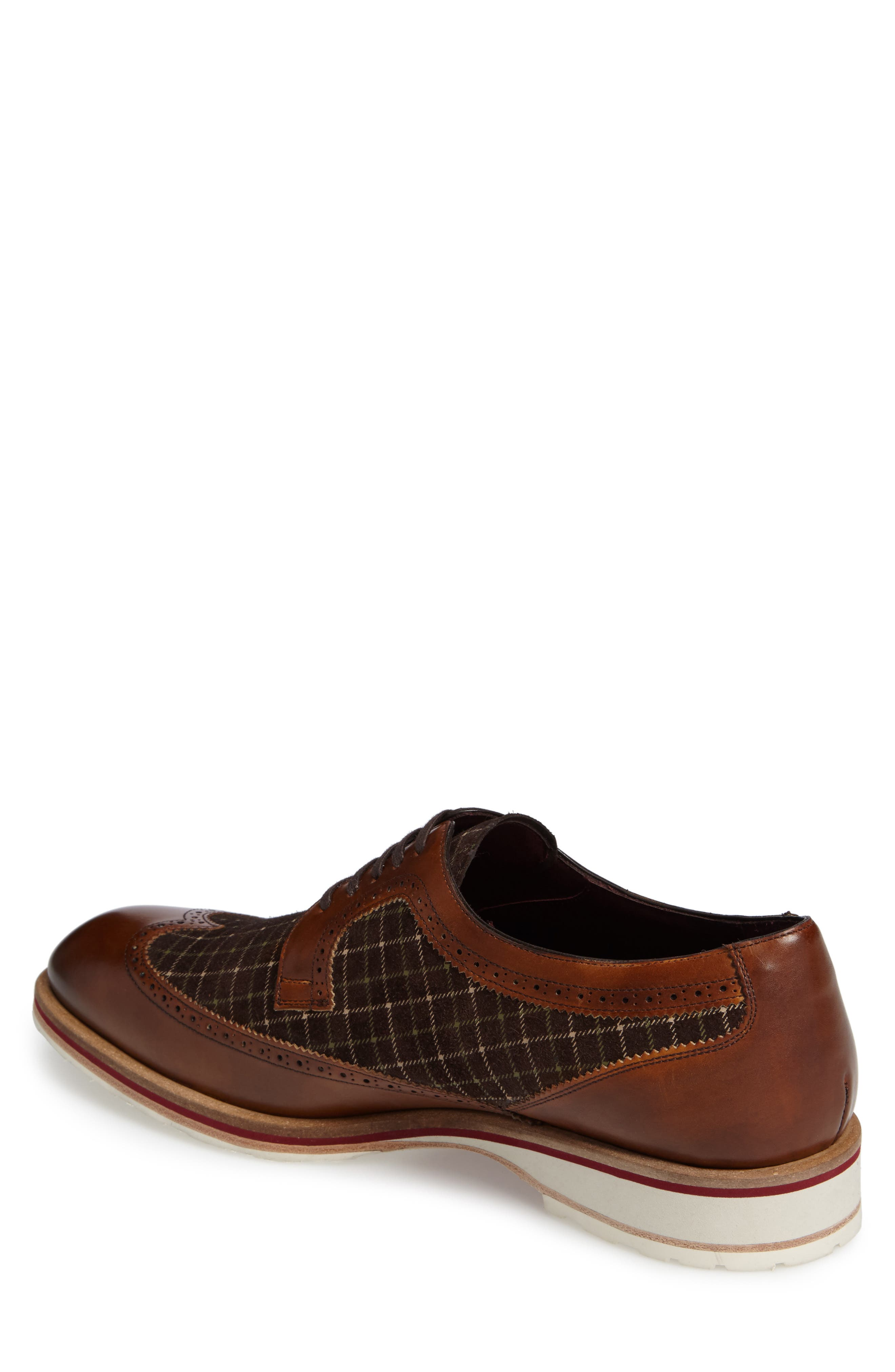 Paulov Tattersall Wingtip,                             Alternate thumbnail 2, color,                             Cognac/ Brown Leather