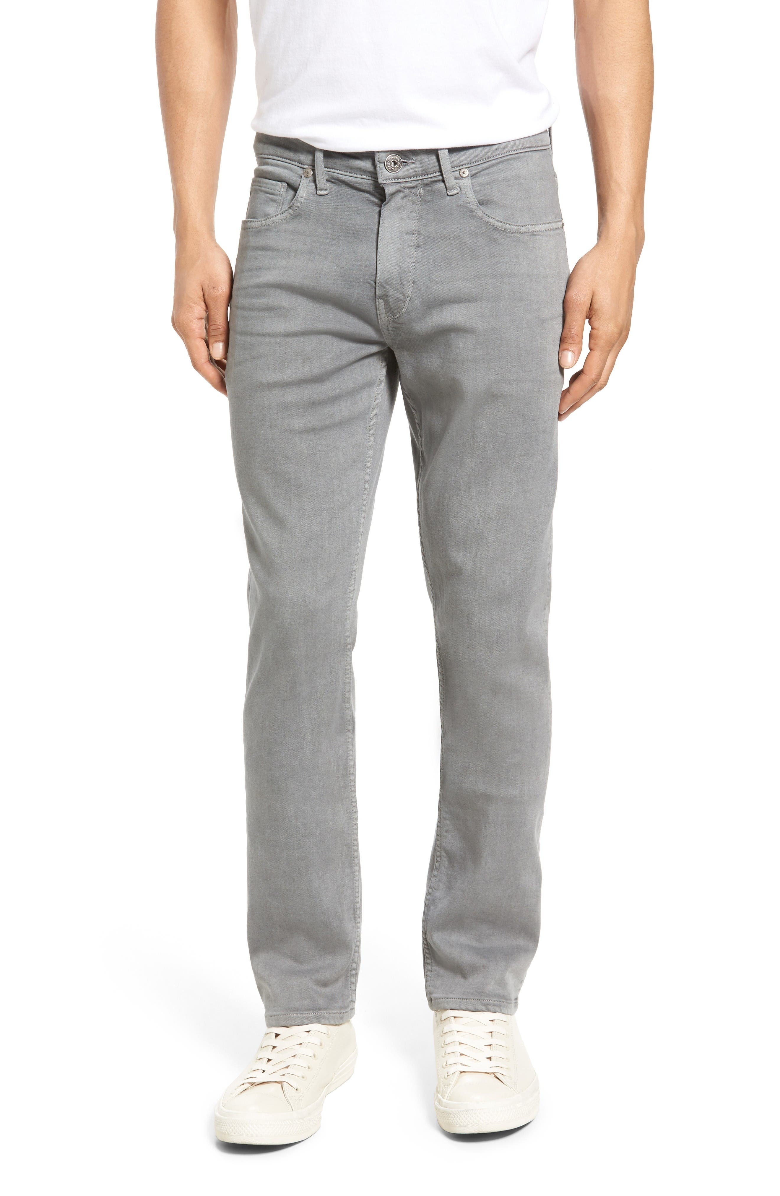 Transcend - Lennox Slim Fit Jeans,                         Main,                         color, Grey Clay