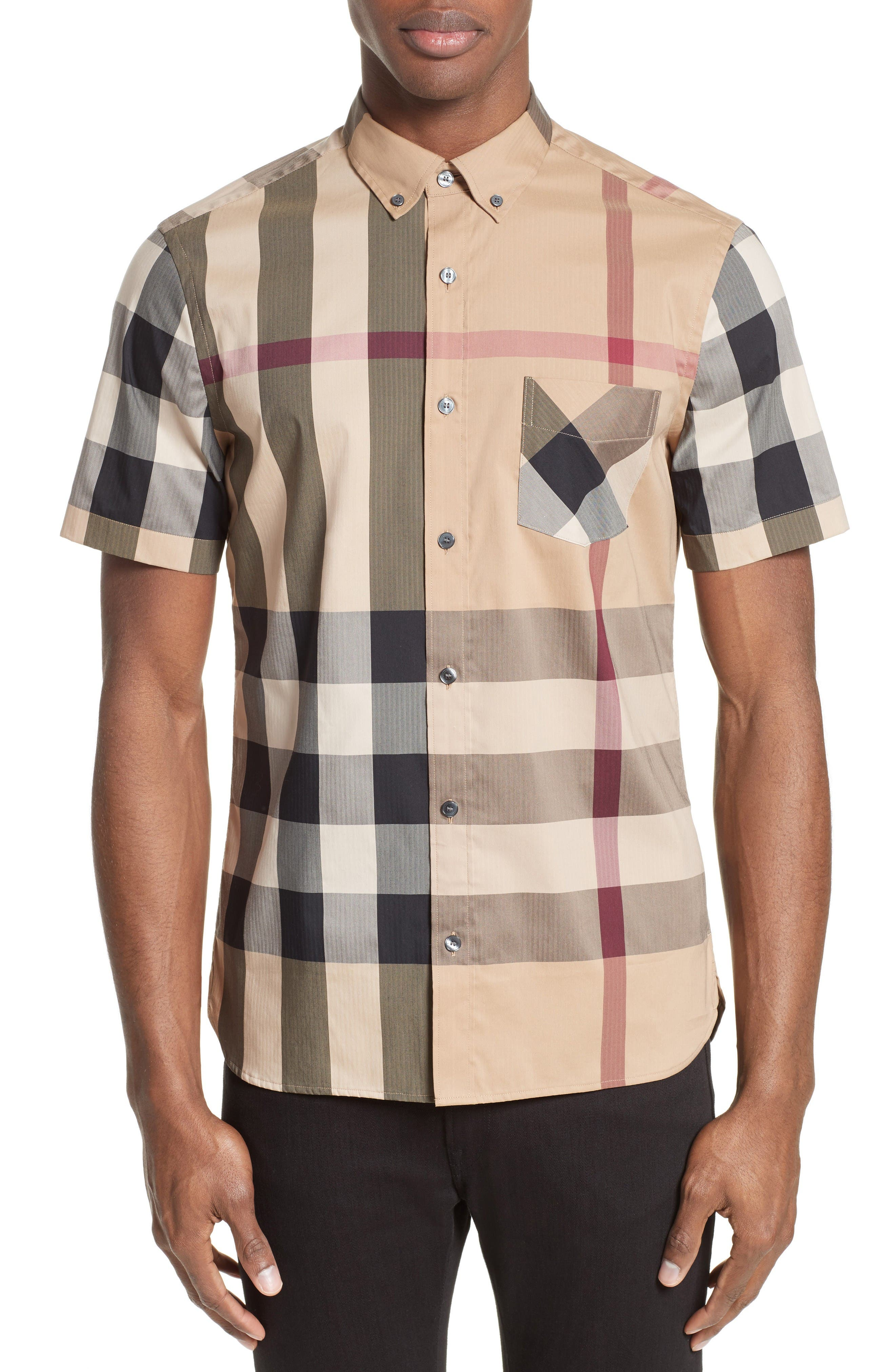 Burberry Thornaby Trim Fit Check Sport Shirt