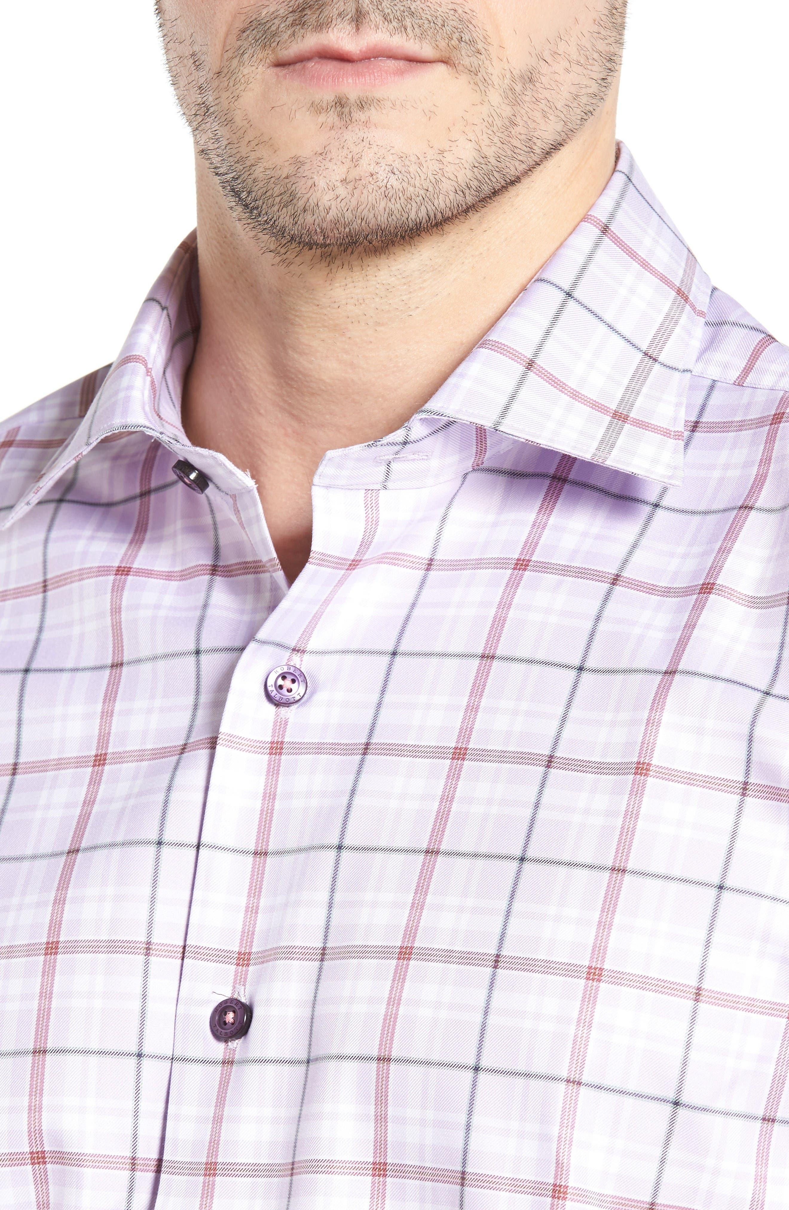 Crespi IV Tailored Fit Sport Shirt,                             Alternate thumbnail 4, color,                             Lavender