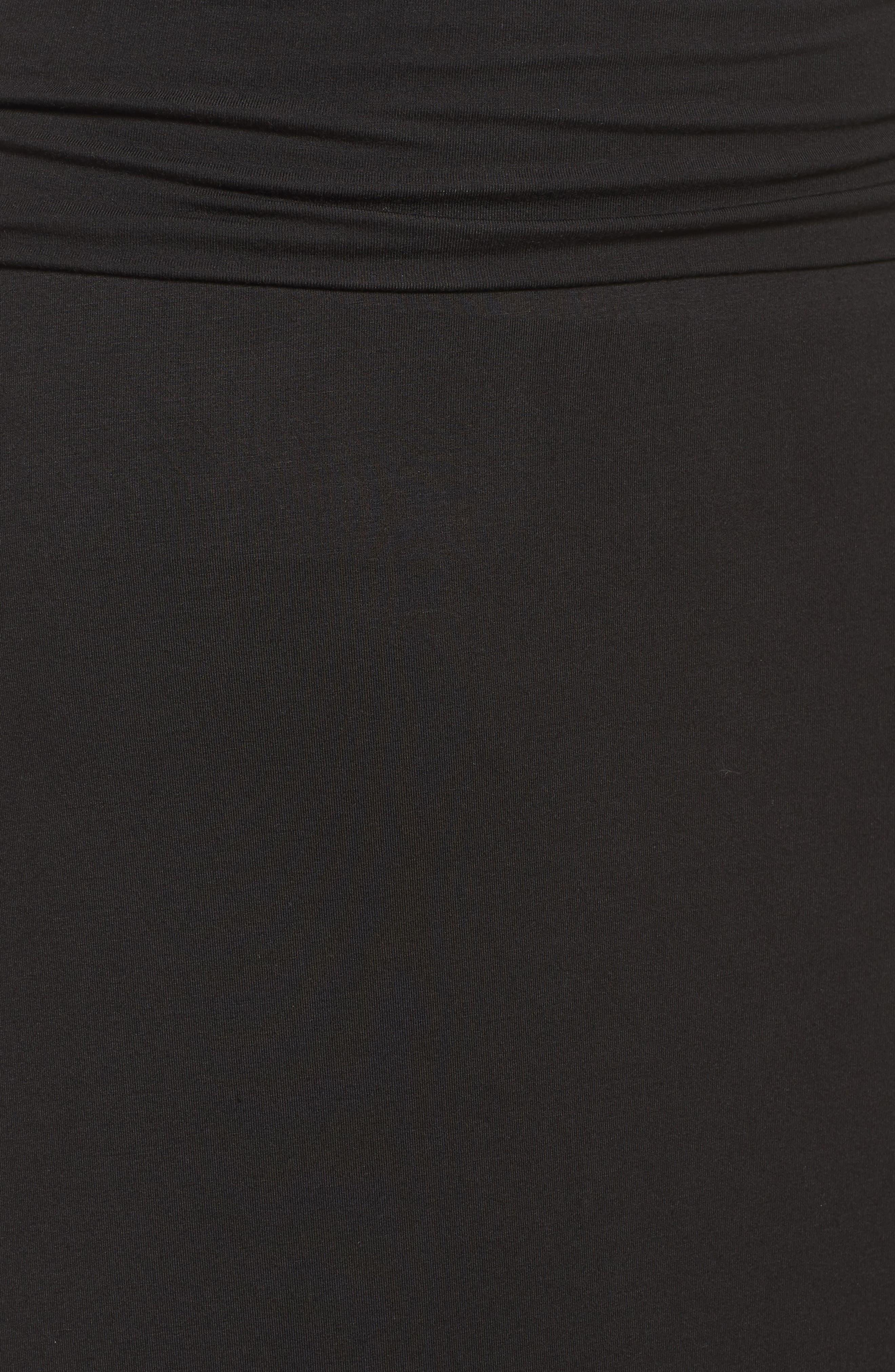 Fold Over Maxi Skirt,                             Alternate thumbnail 5, color,                             Black