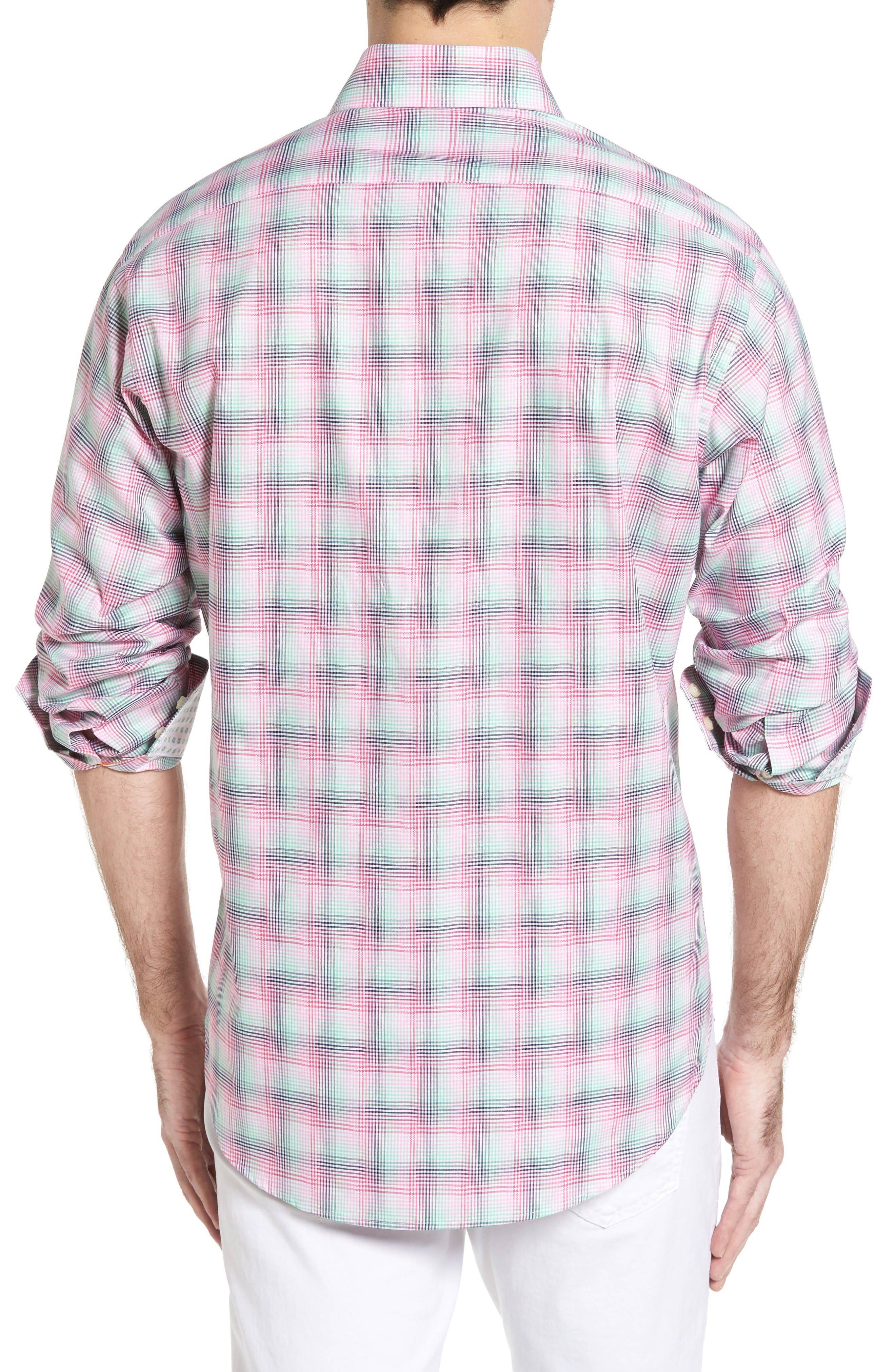 Alternate Image 2  - Thomas Dean Classic Fit Funky Plaid Sport Shirt (Regular)