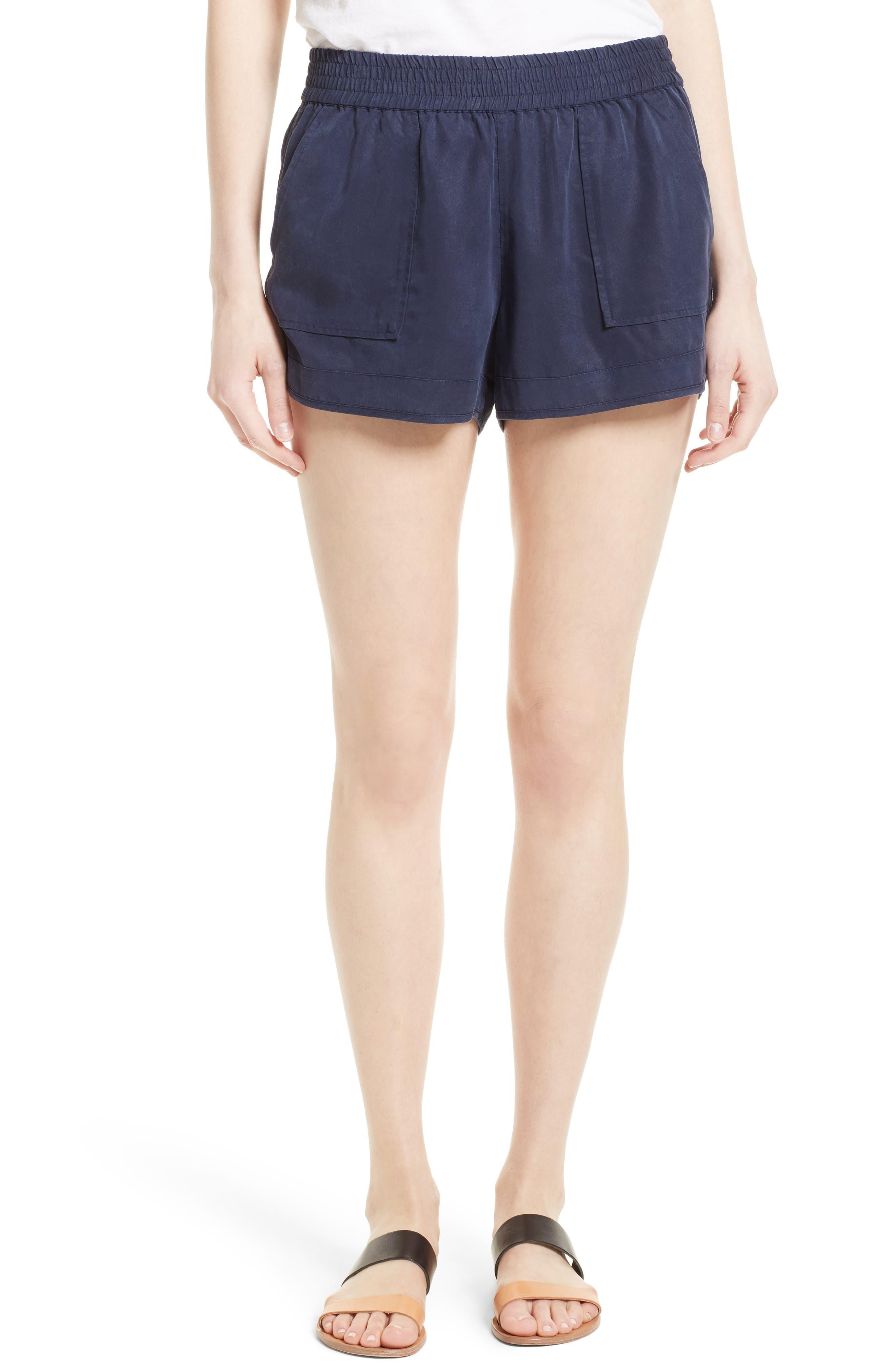 Beso Woven Shorts,                         Main,                         color, Dark Navy