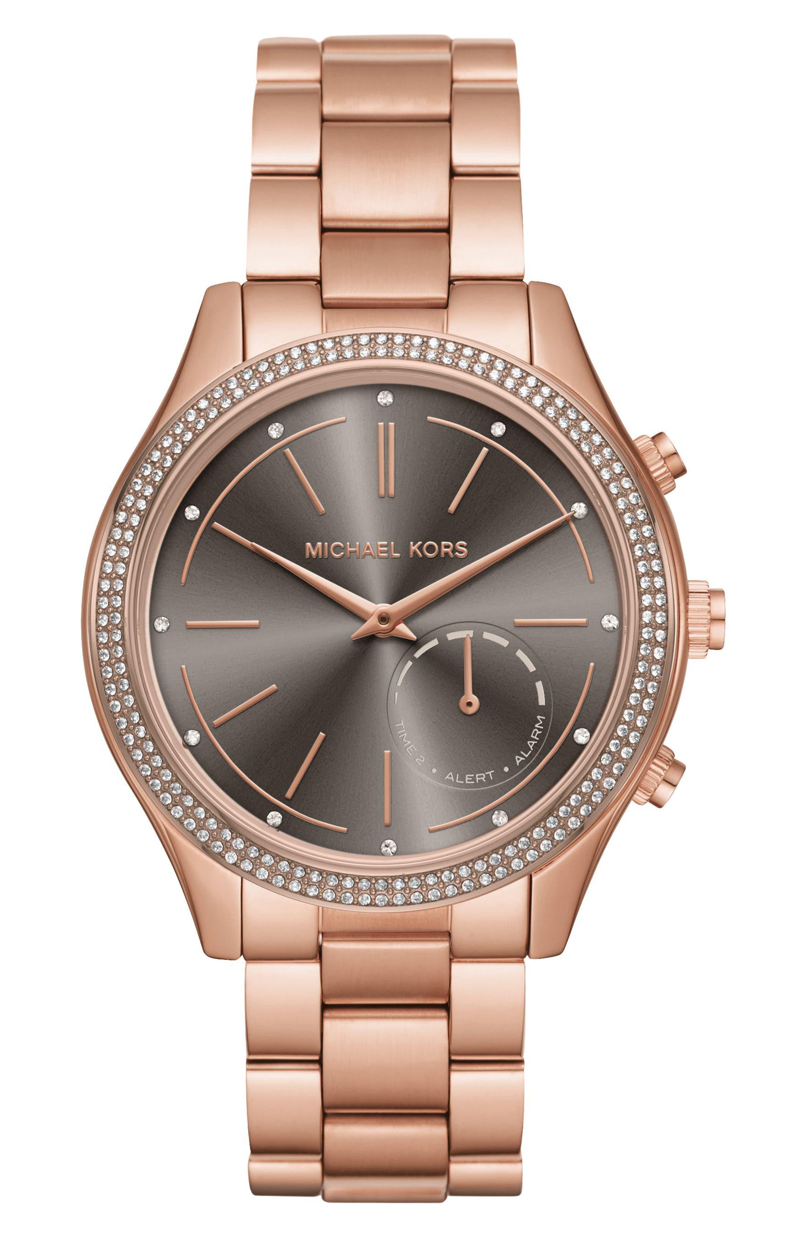 Access Smart Bracelet Watch, 42mm,                             Main thumbnail 1, color,                             Rose Gold/ Grey/ Rose Gold